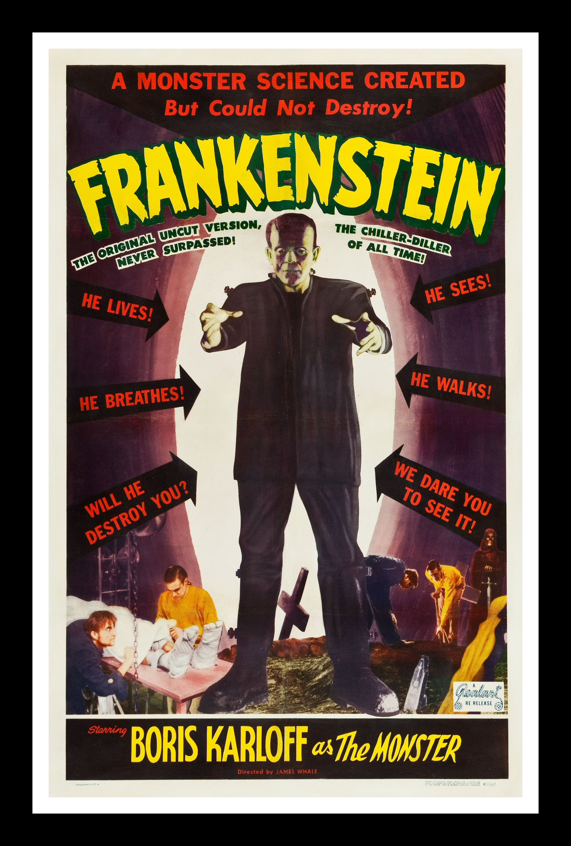 FRANKENSTEIN CineMasterpieces MONSTER HORROR ORIGINAL ...