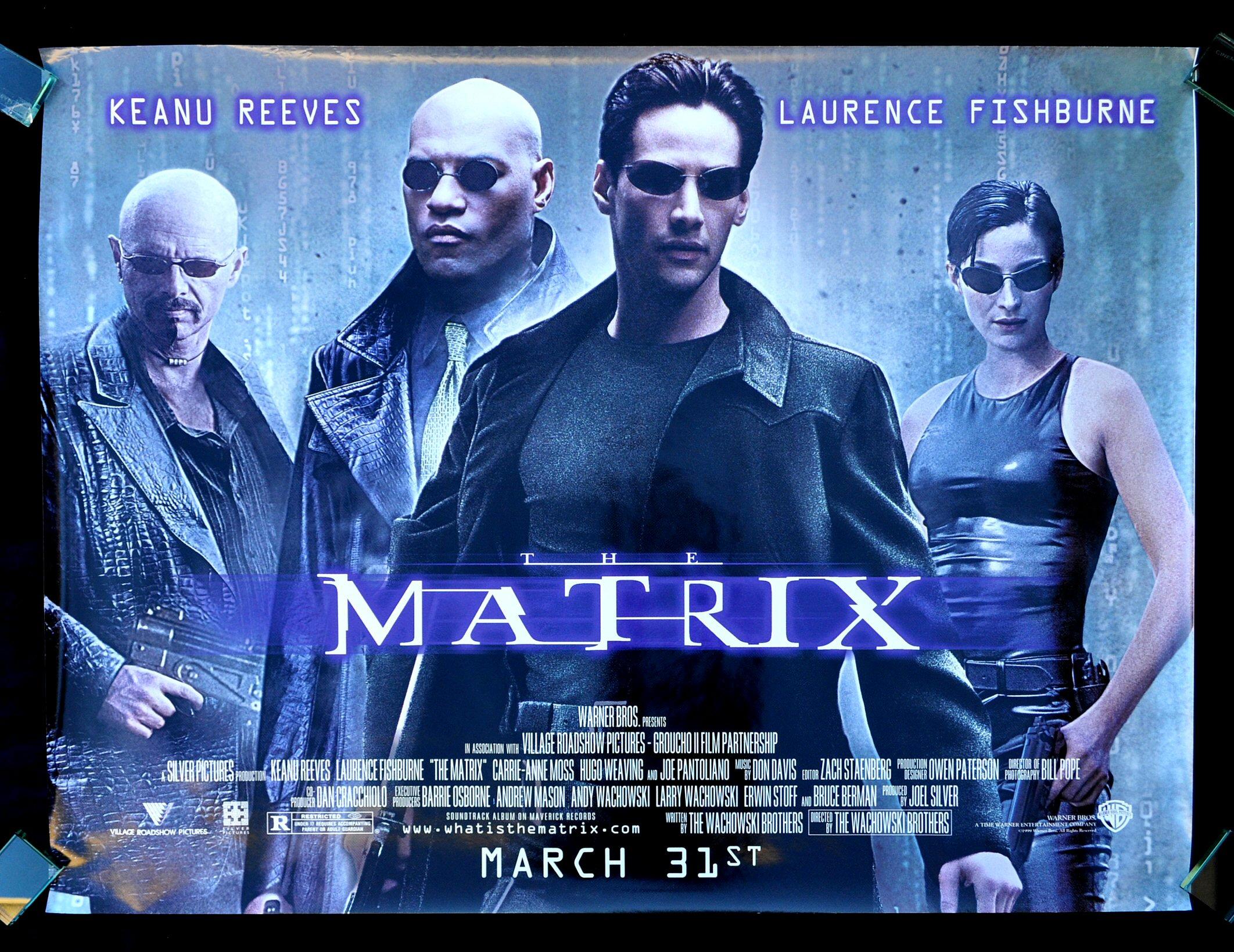 THE MATRIX * CineMasterpieces RARE SUBWAY SCI FI ORIGINAL ...