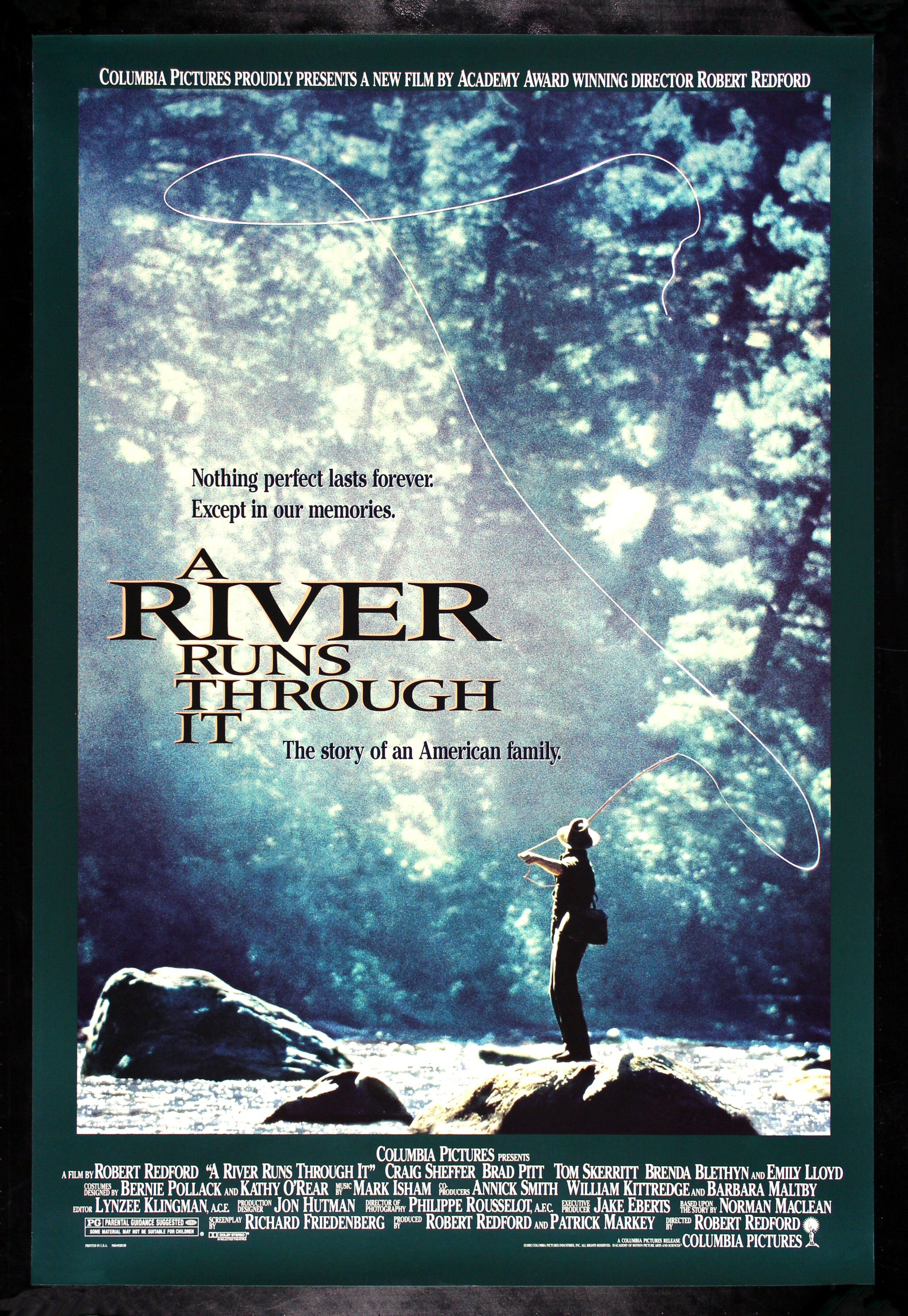 A river runs through it cinemasterpieces original movie for Fly fishing posters