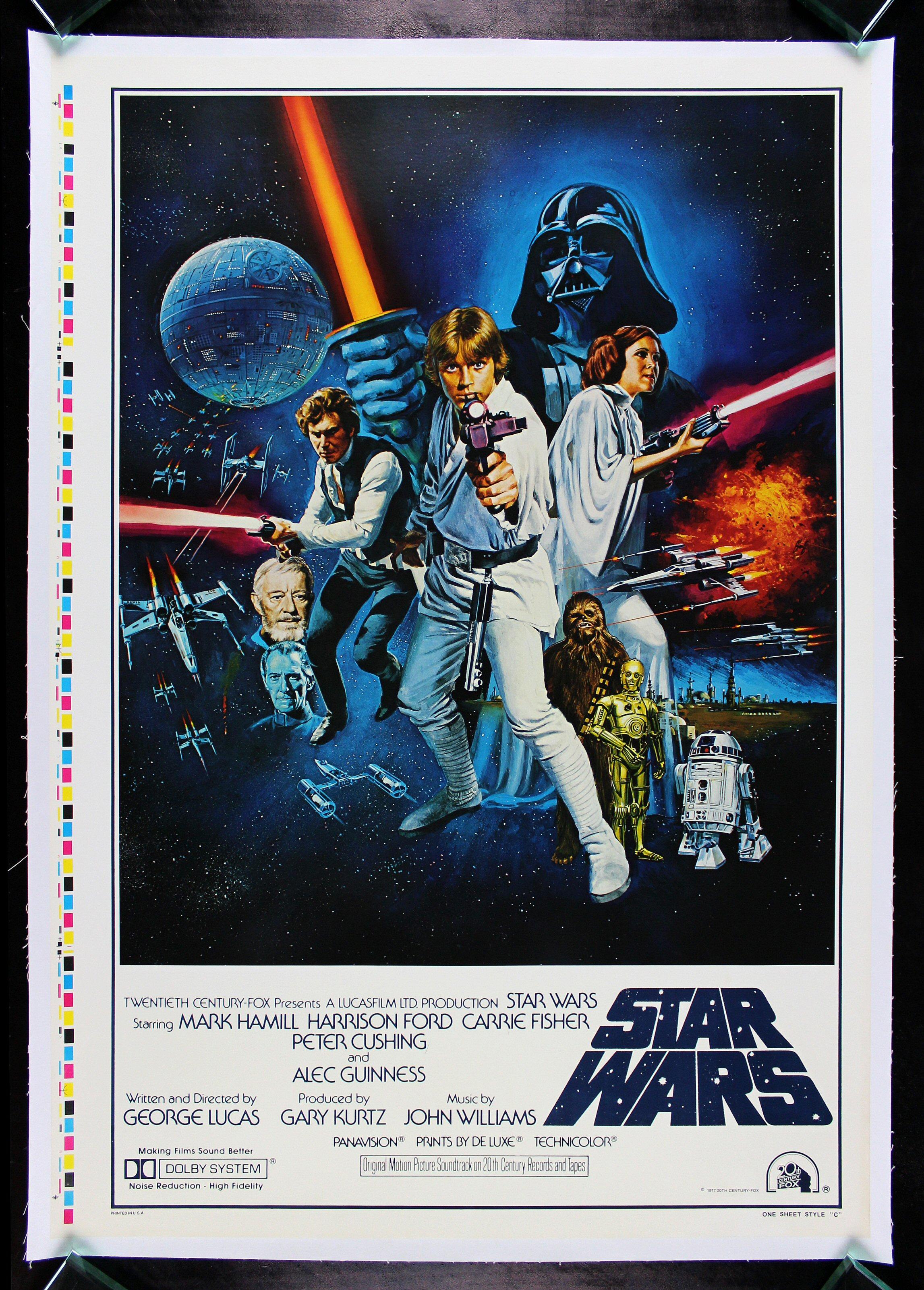 STAR WARS * CineMasterpieces 1977 STYLE C ORIGINAL MOVIE ...