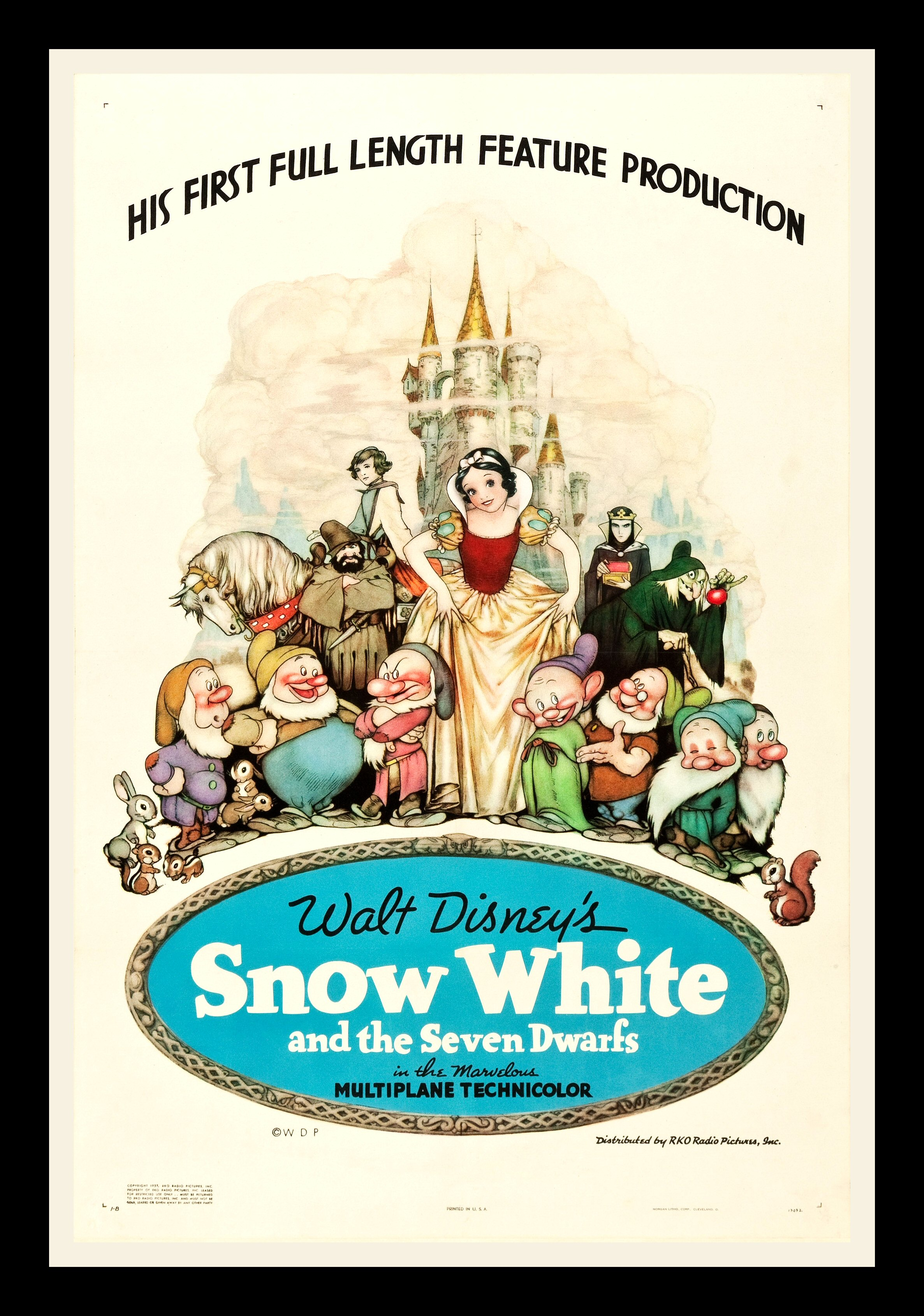 SNOW WHITE AND THE 7 SEVEN DWARFS 1937 CineMasterpieces ...