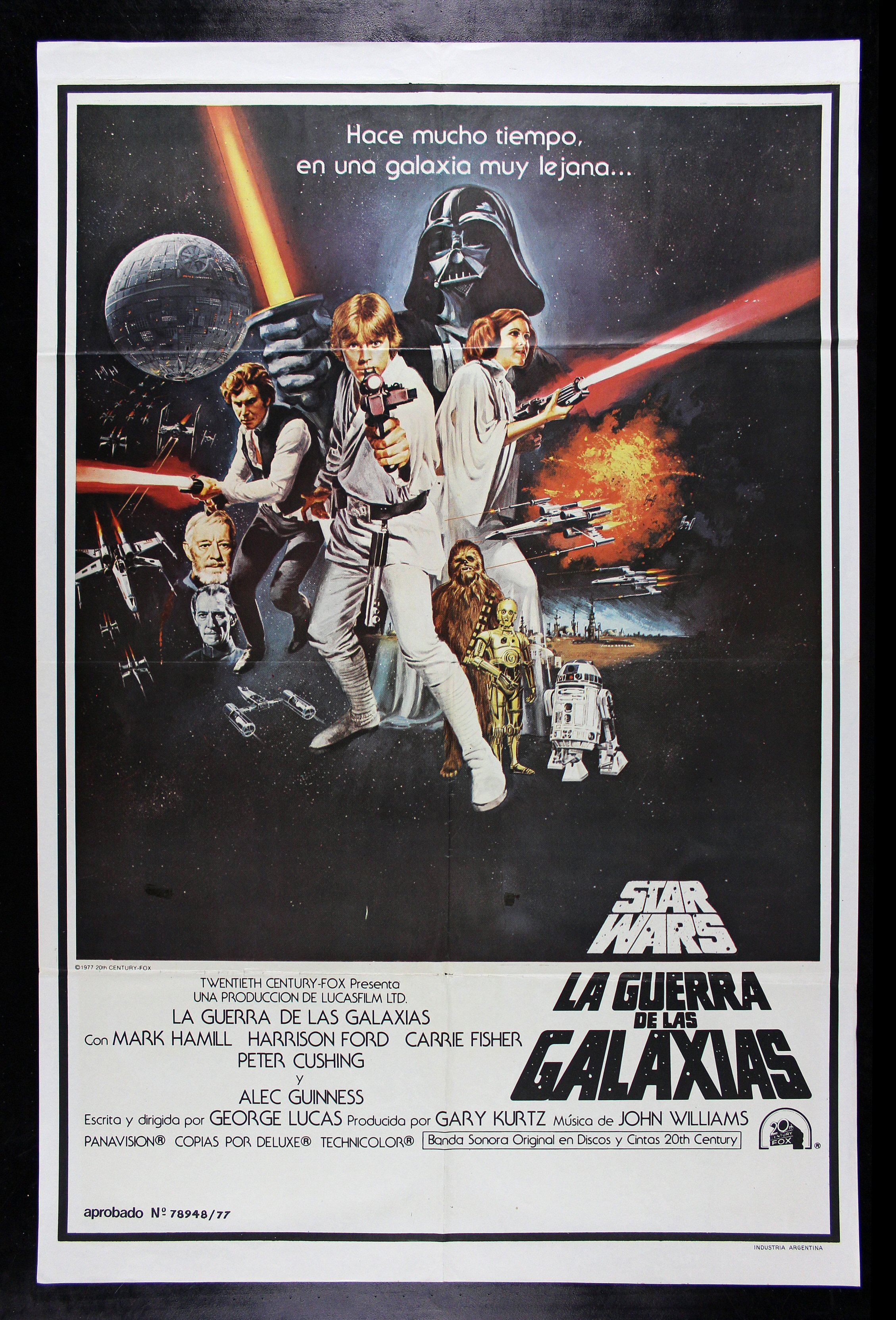 star wars cinemasterpieces argentina original movie