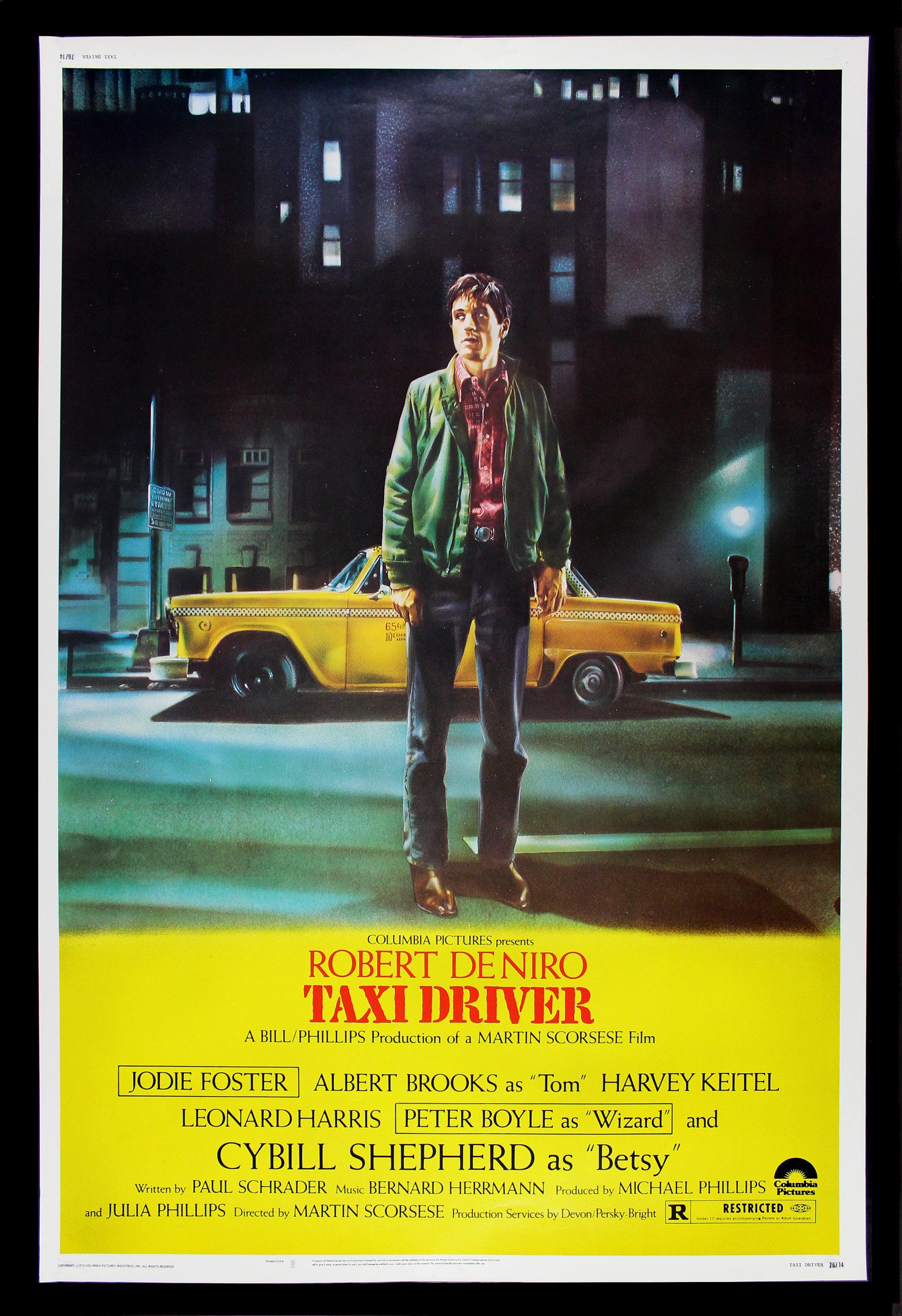 TAXI DRIVER * CineMasterpieces HUGE 40x60 ORIGINAL MOVIE ...