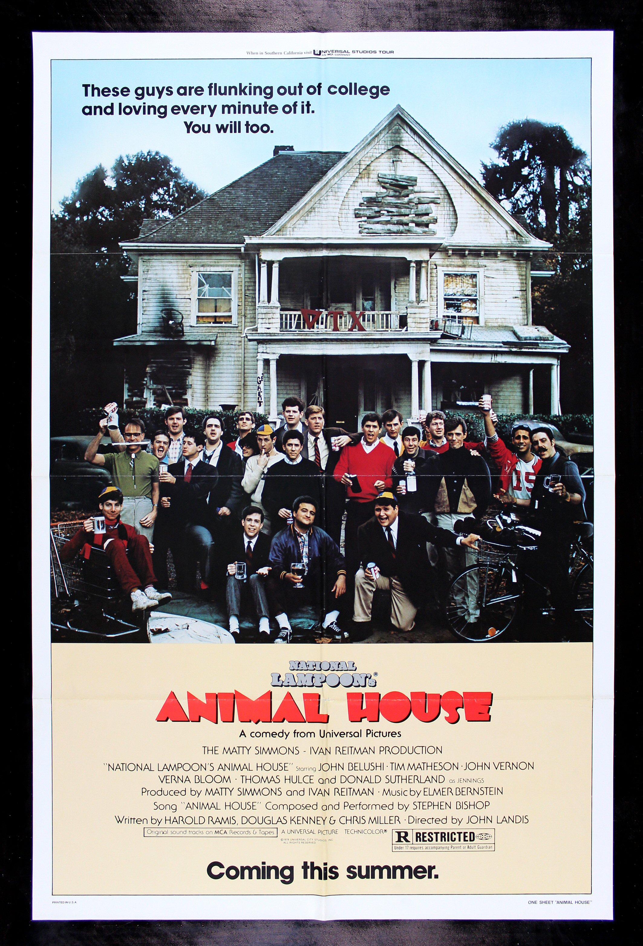 ANIMAL HOUSE * CineMasterpieces ADVANCE ORIGINAL JOHN ...