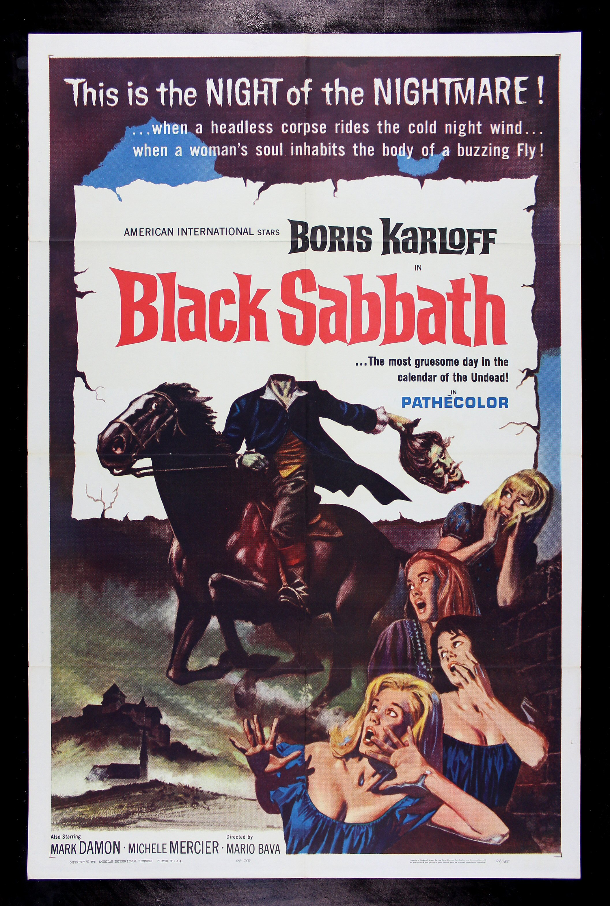 black sabbath 1964 let s go to the movies pinterest black