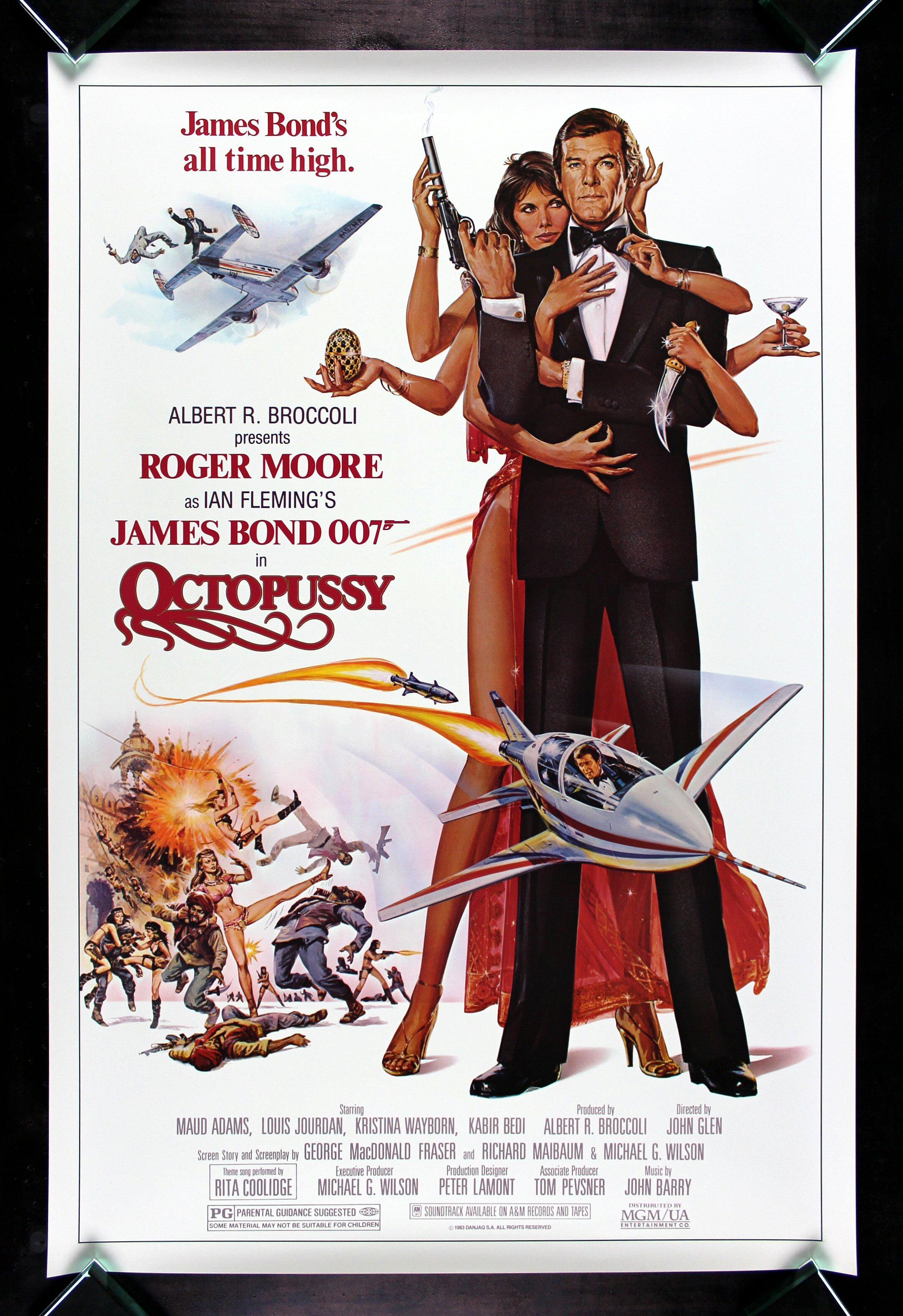 octopussy cinemasterpieces vintage original movie poster