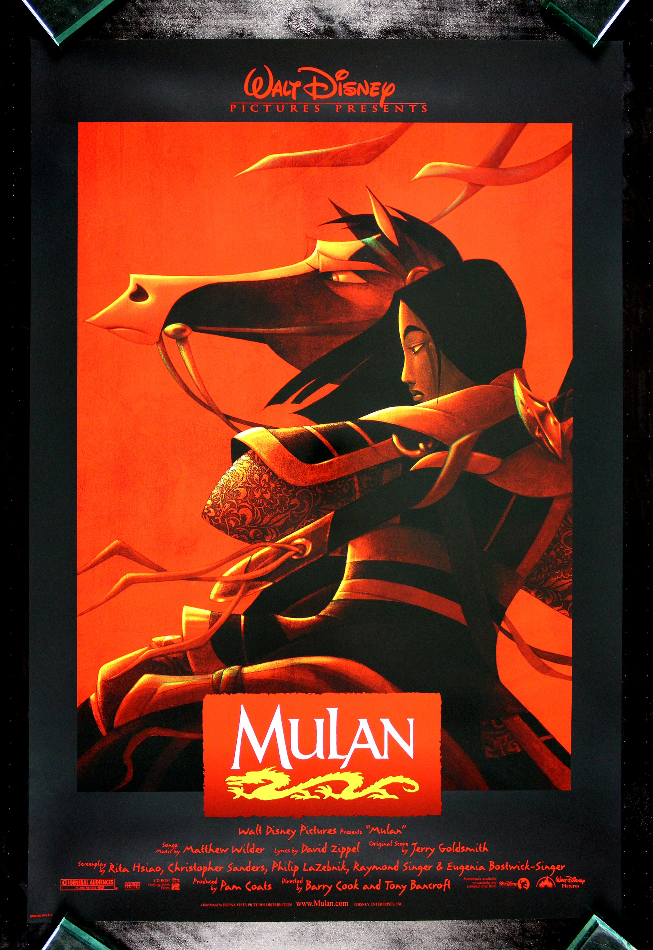 MULAN * CineMasterpieces DISNEY ORIGINAL MOVIE POSTER DS ...