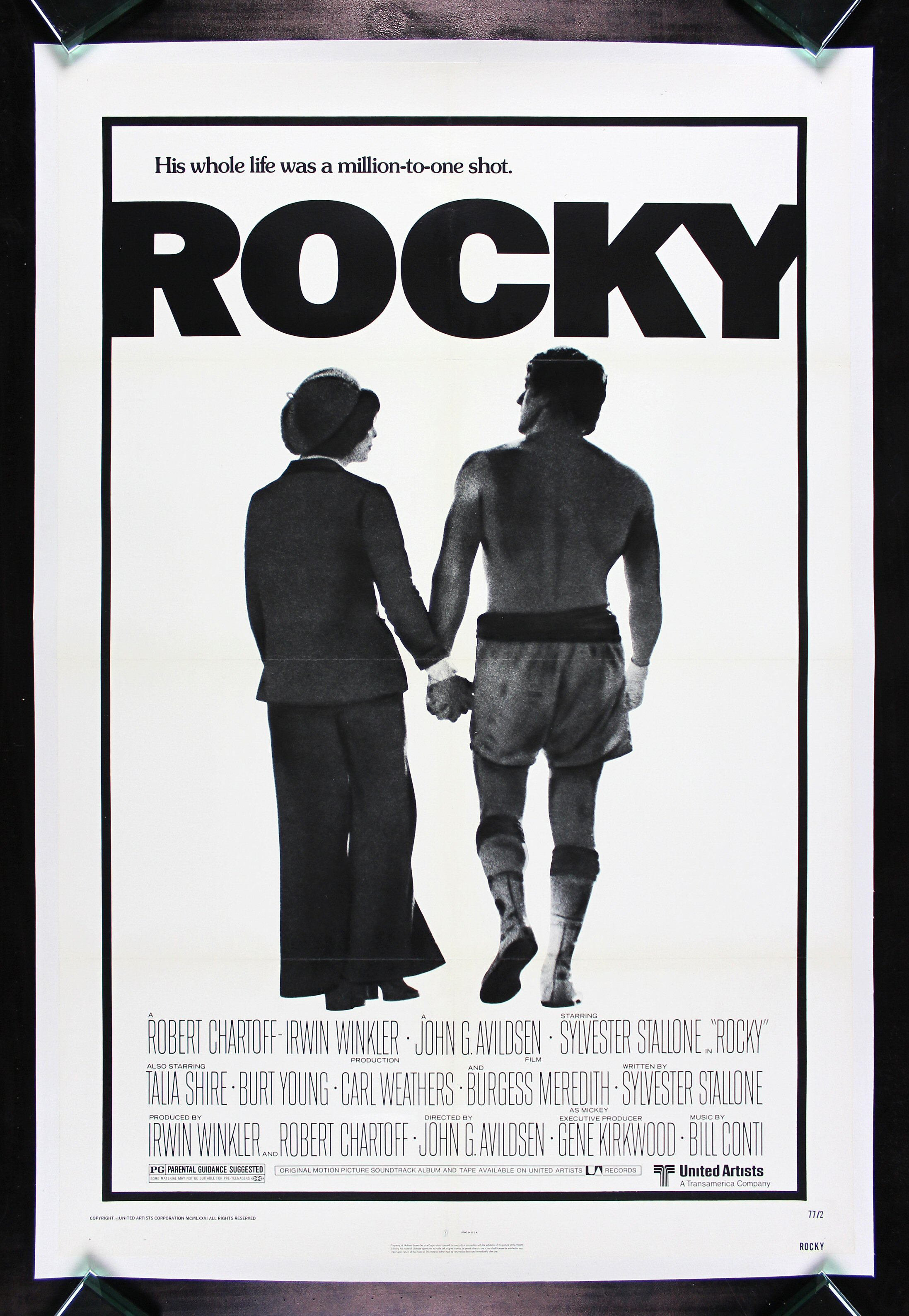 rocky cinemasterpieces boxing original linen backed nm