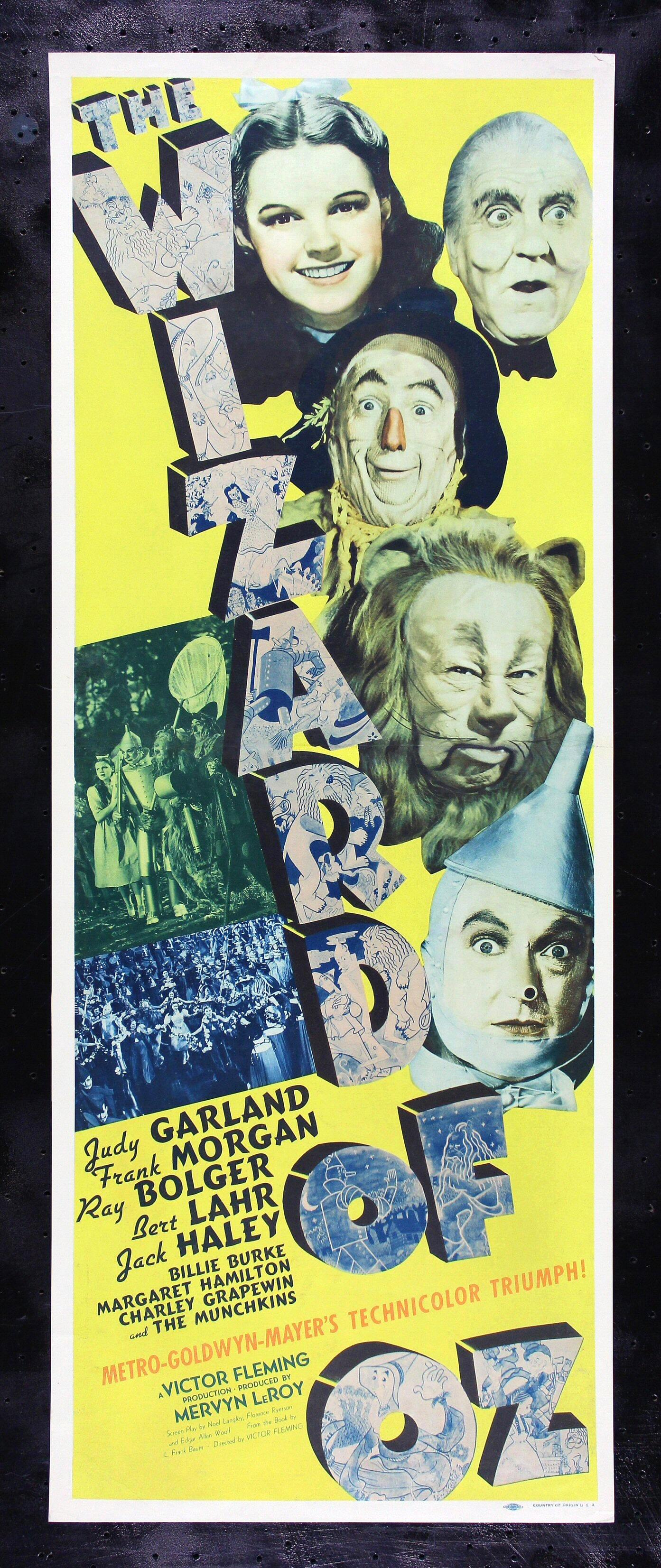 the wizard of oz cinemasterpieces original movie poster