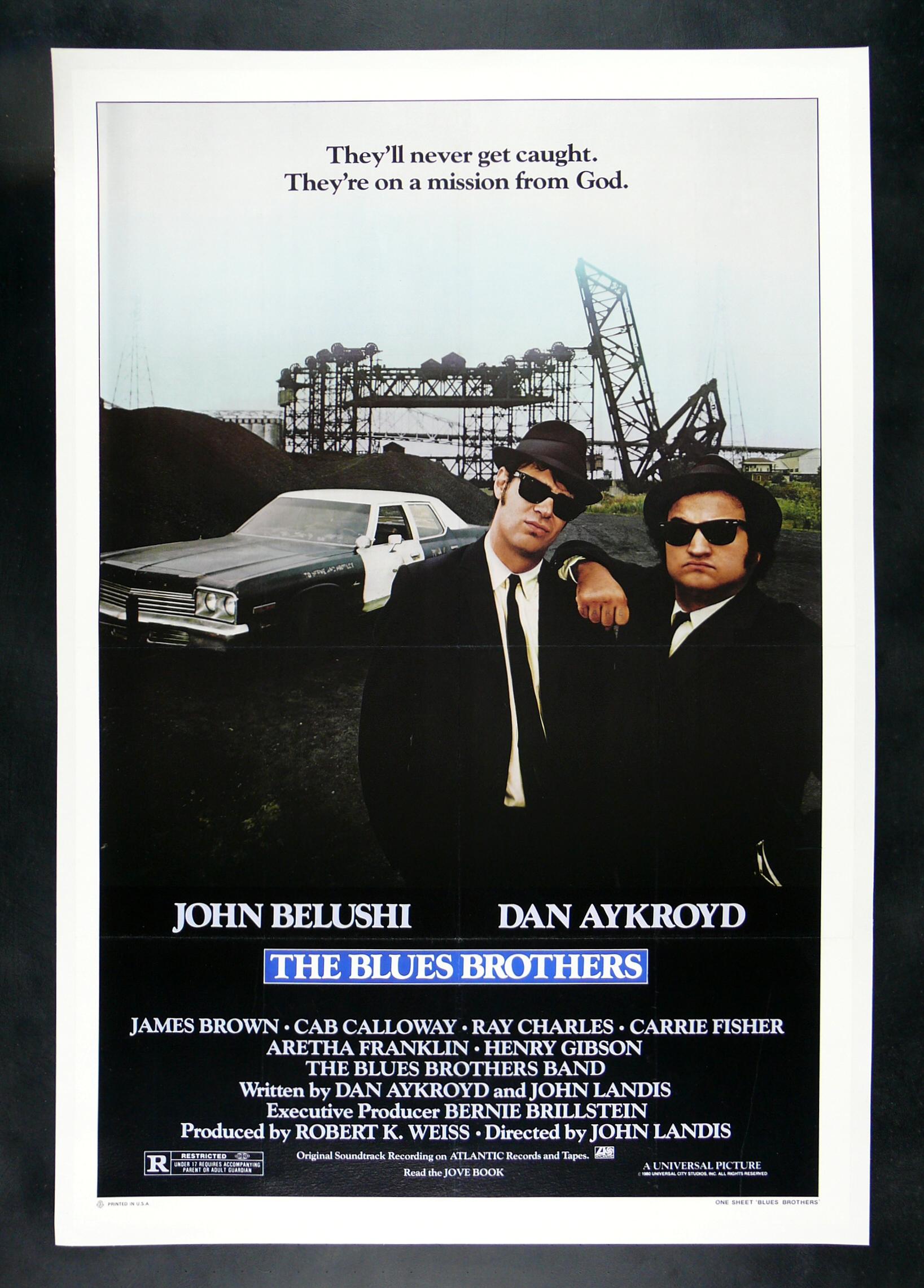 THE BLUES BROTHERS * CineMasterpieces ORIGINAL JOHN ...