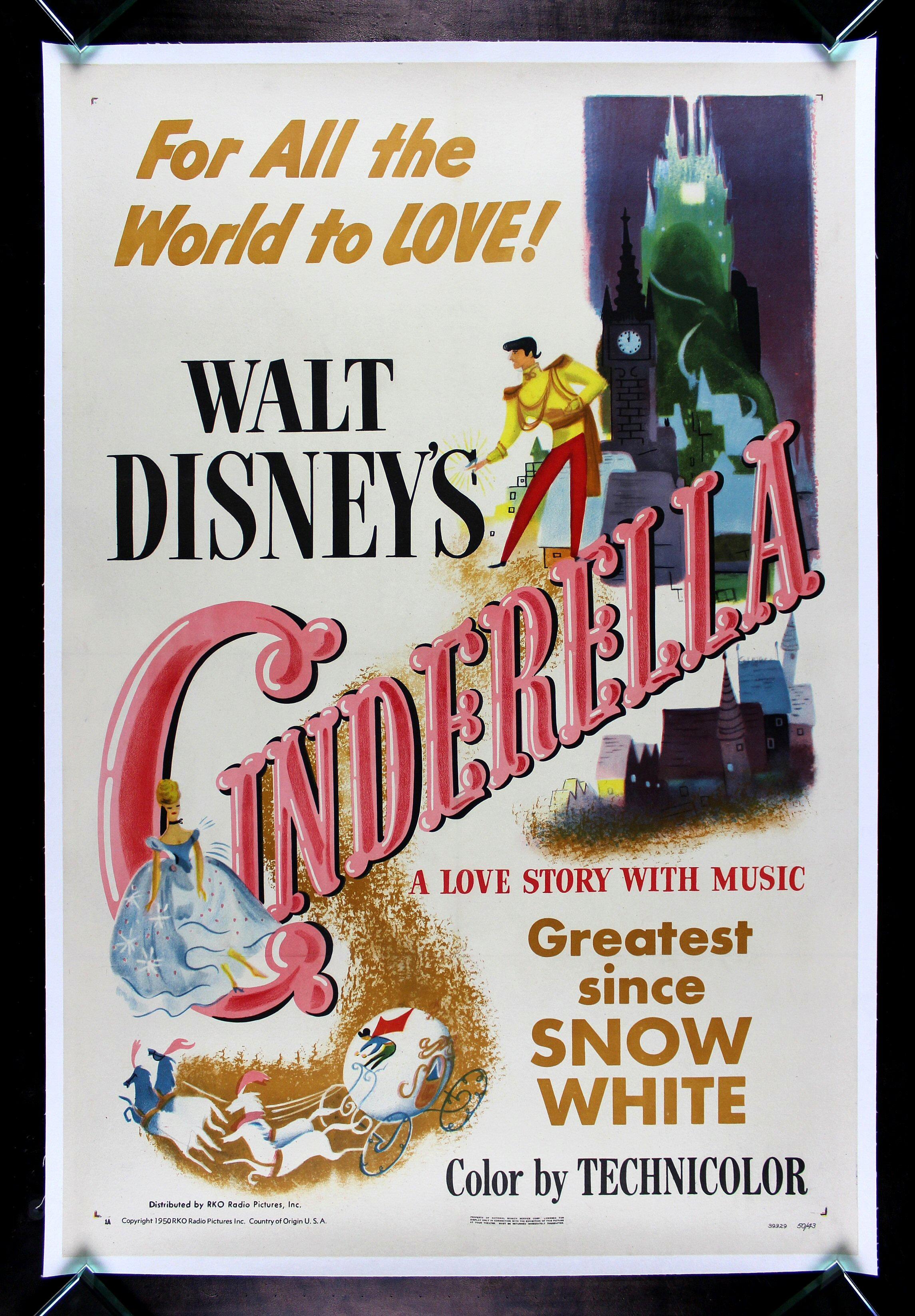 CINDERELLA * CineMasterpieces ORIGINAL DISNEY PRINCESS ...