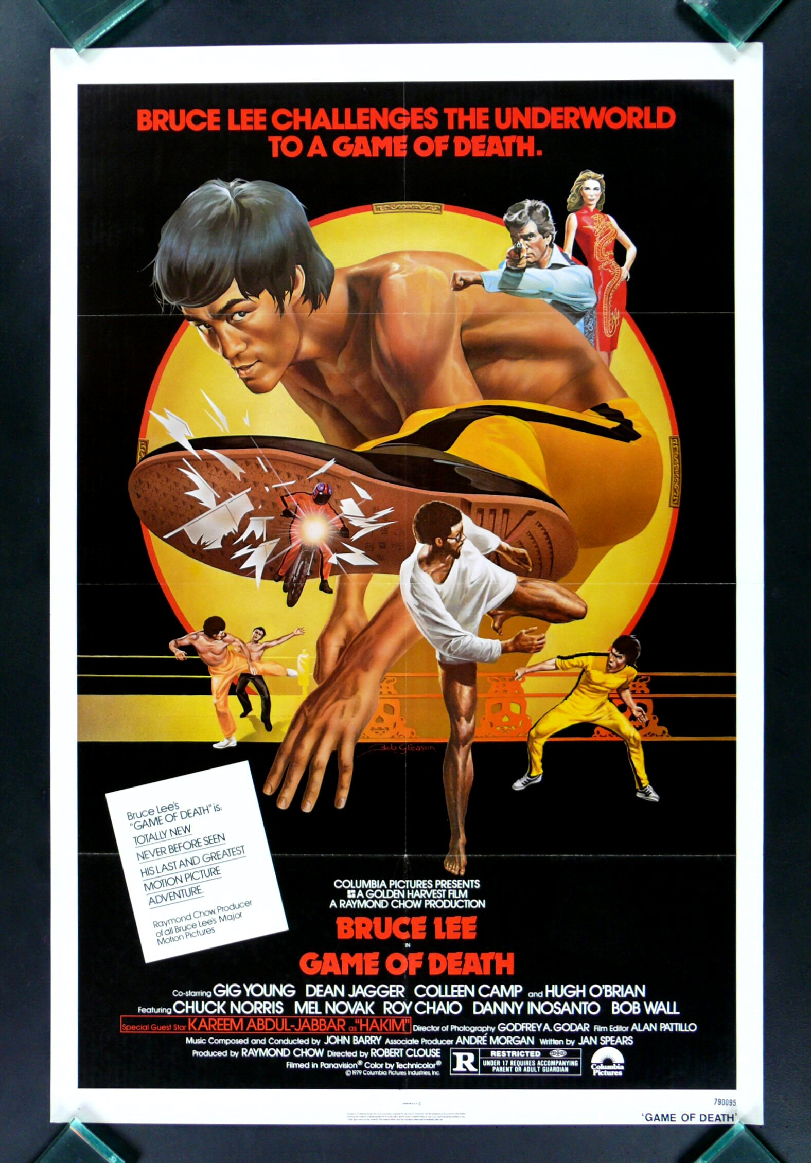 game of death bruce lee karate martial art movie poster