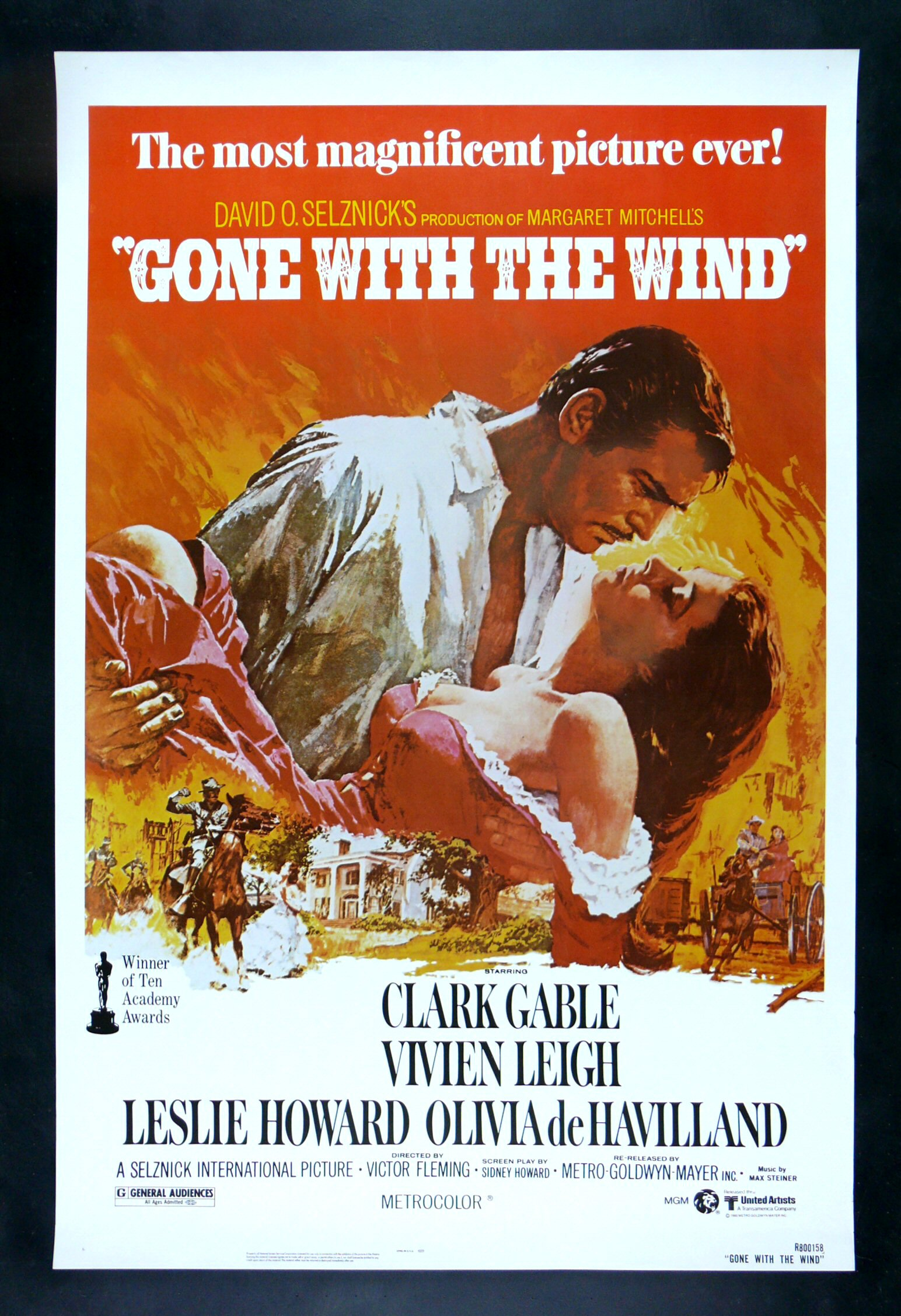 GONE WITH THE WIND * CineMasterpieces 1SH ORIGINAL ROLLED ...