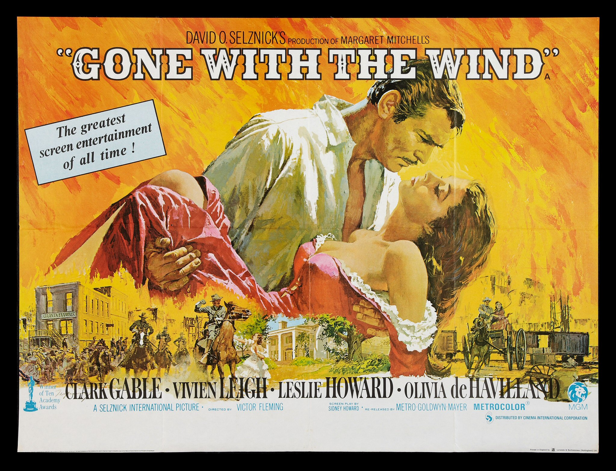 GONE WITH THE WIND * CineMasterpieces UK BRITISH ORIGINAL ...