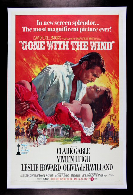 GONE WITH THE WIND * CineMasterpieces ORIGINAL LINEN ...