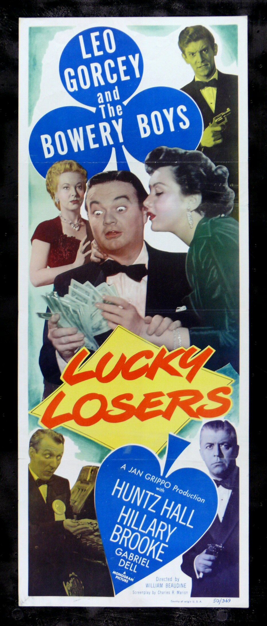 LUCKY LOSERS * CineMasterpieces BOWERY BOYS GAMBLING MOVIE ...