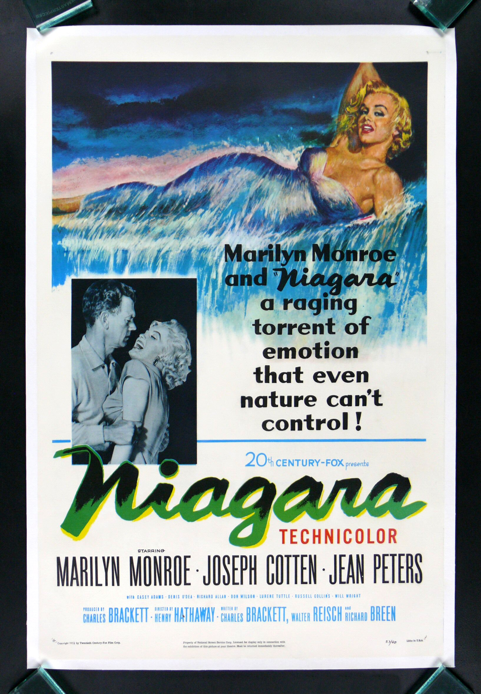 NIAGARA * CineMasterpieces MARILYN MONROE HOLLYWOOD ...