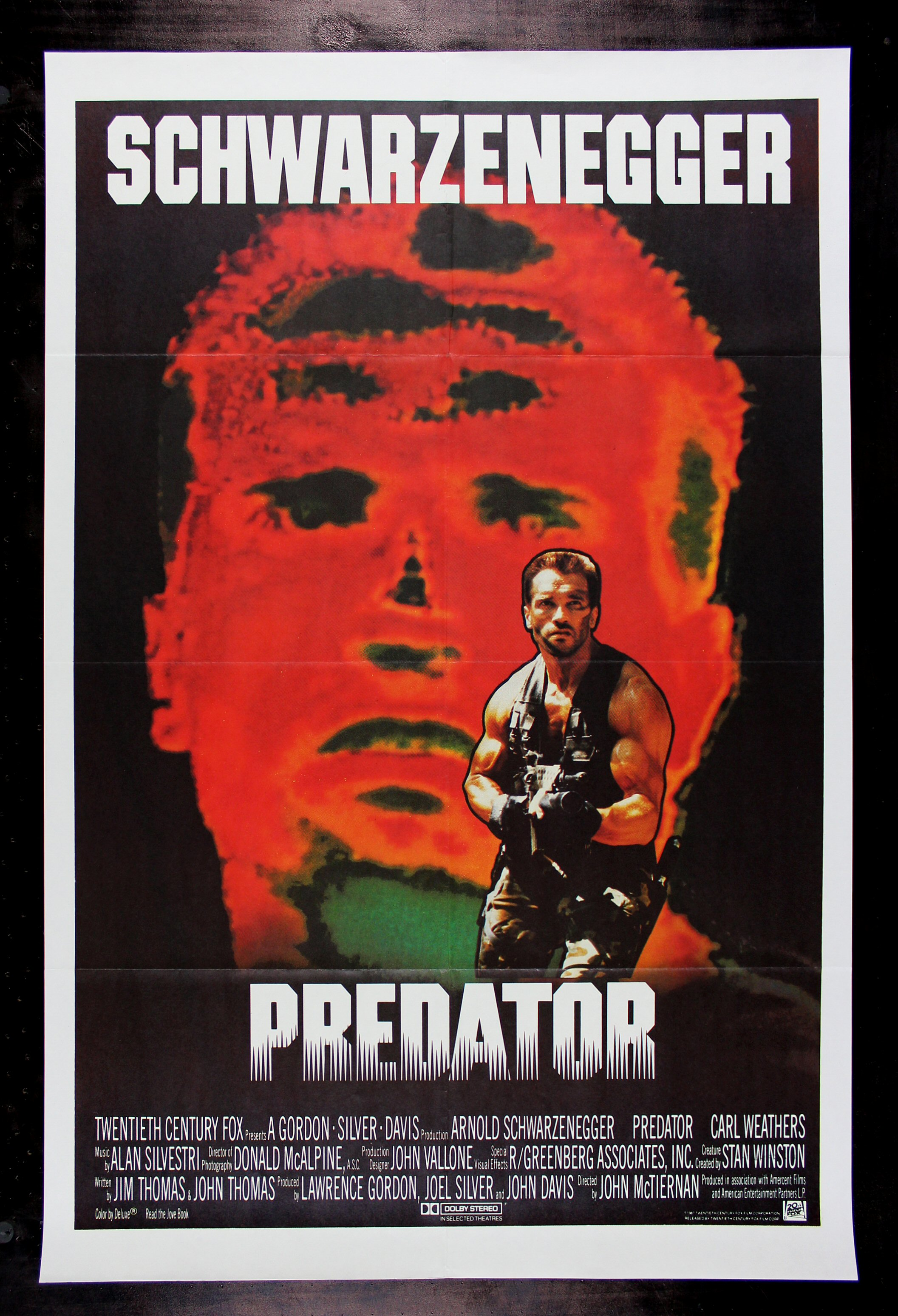 PREDATOR * CineMasterpieces RARE INTERNATIONAL 1SH ...