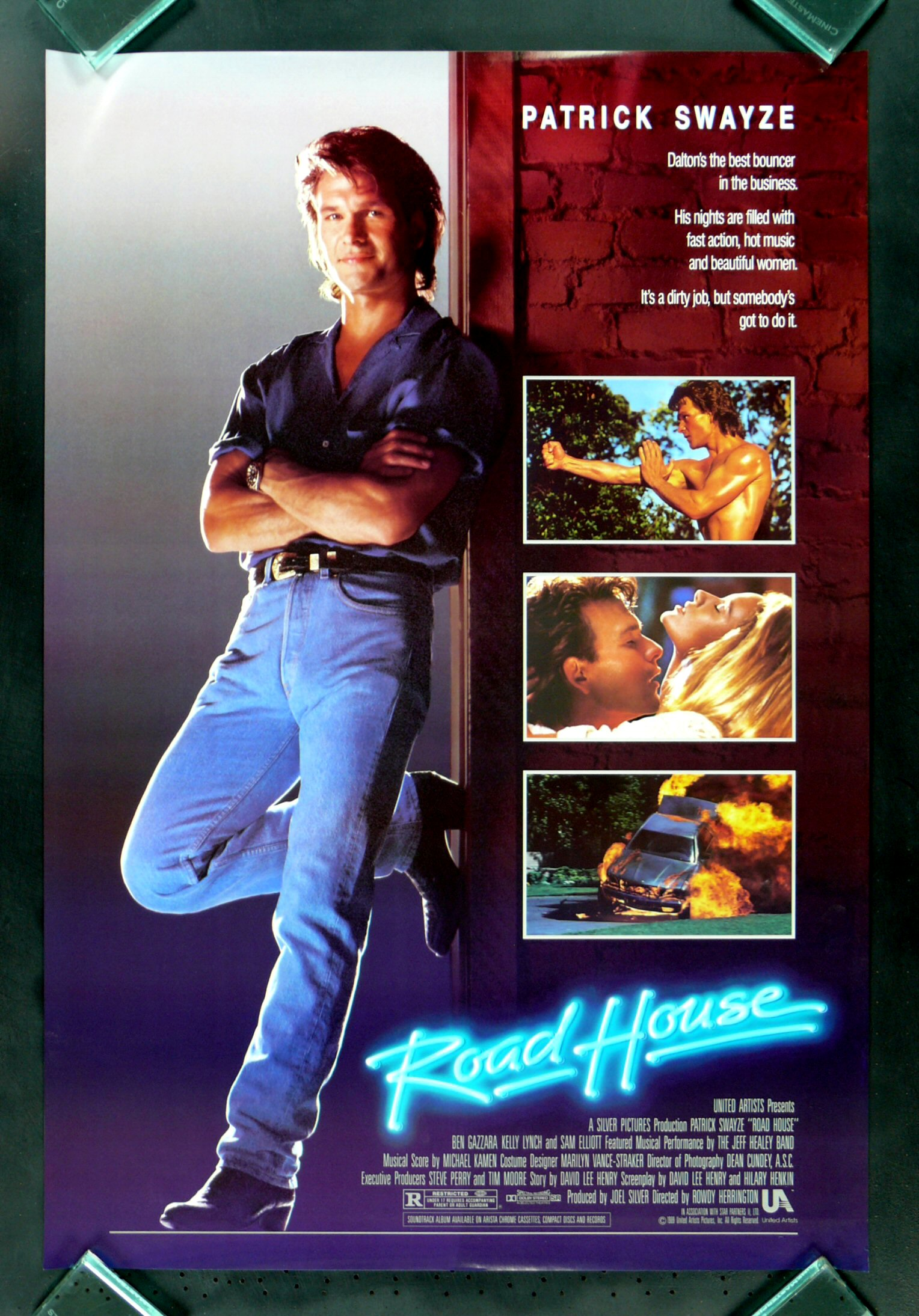 ... ORIGINAL MOVIE POSTER ROLLED UNUSED ROADHOUSE PATRICK SWAYZE | eBay