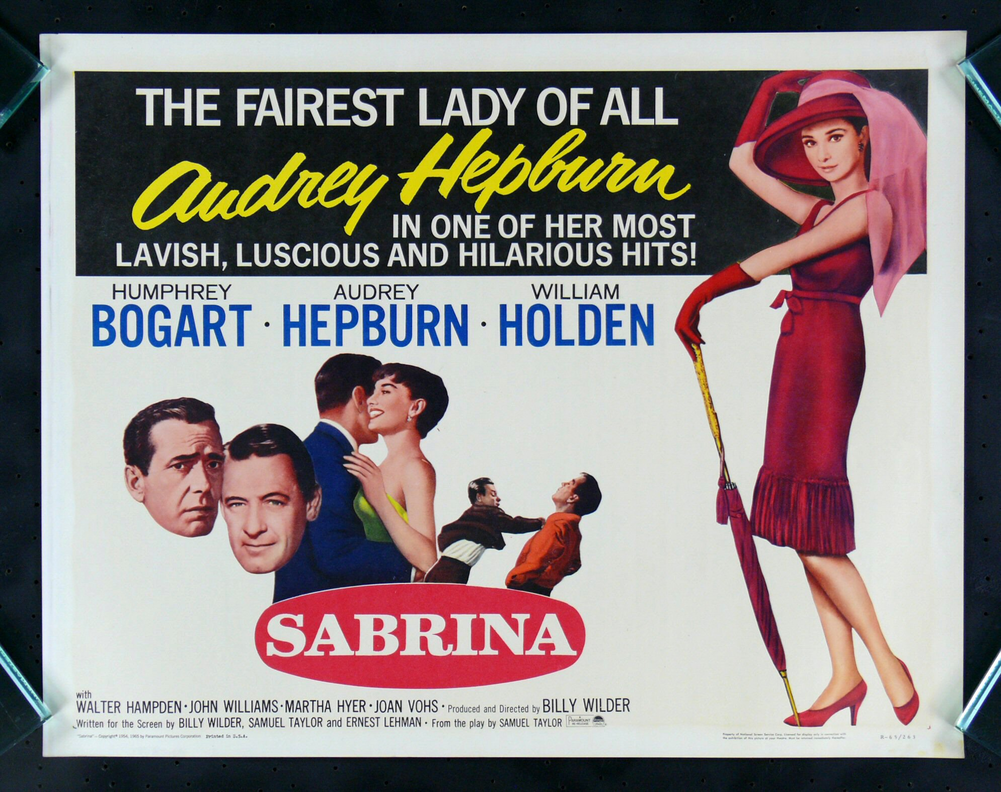 sabrina audrey hepburn half sh movie poster ebay. Black Bedroom Furniture Sets. Home Design Ideas