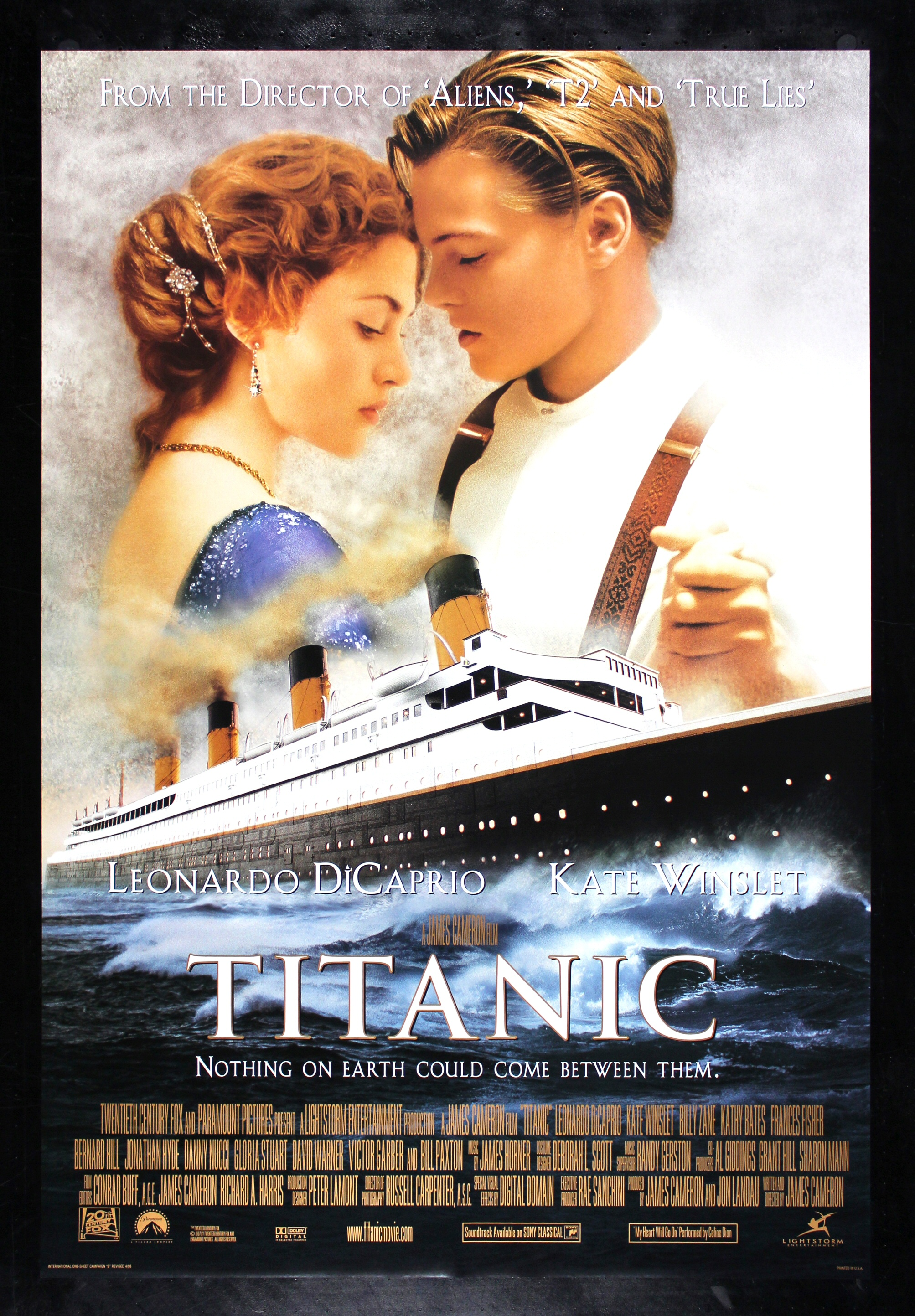 titanic cinemasterpieces 1sh original ds movie poster