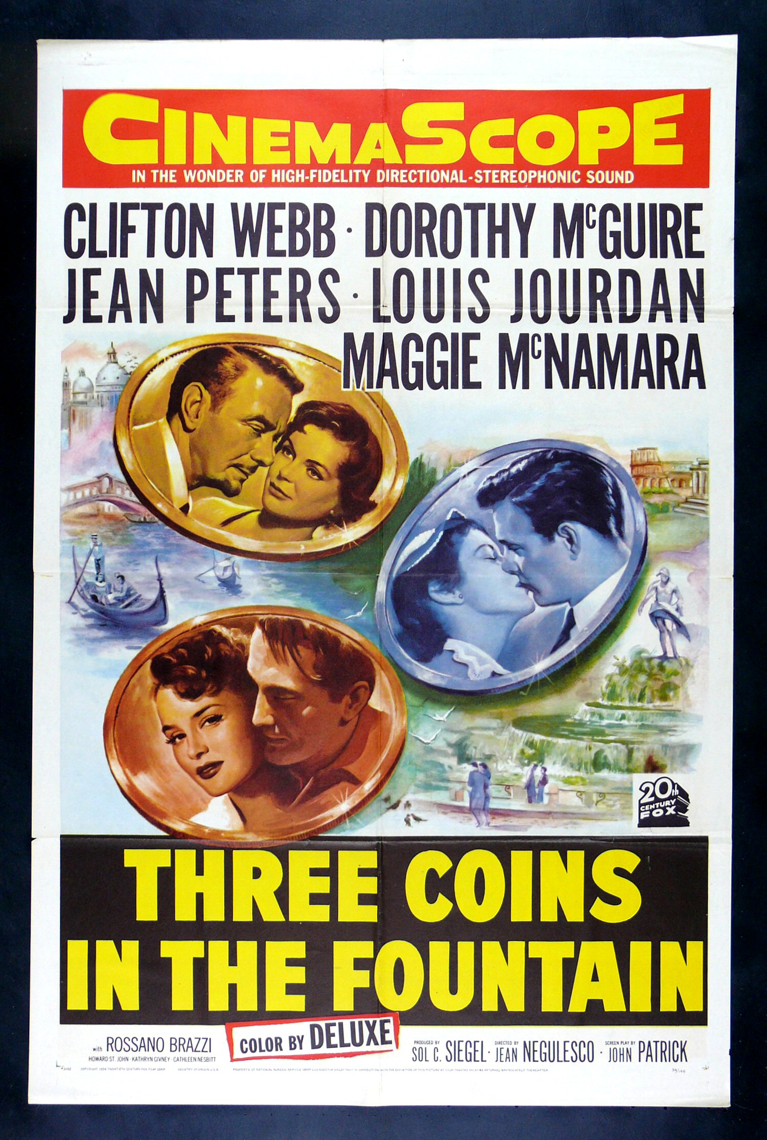 THREE COINS IN THE FOUNTAIN 3 CineMasterpieces ORIGINAL ...