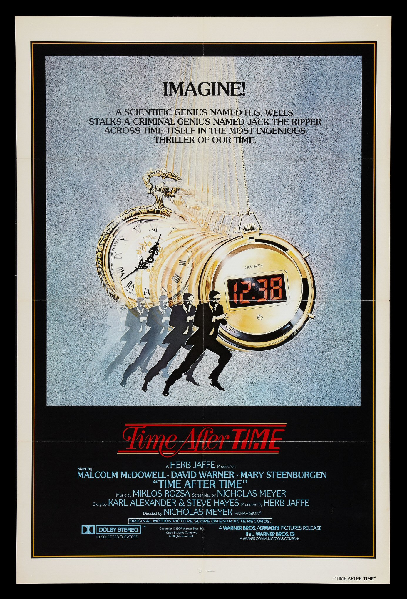 Details about TIME AFTER TIME * 1SH ORIG MOVIE POSTER 1979