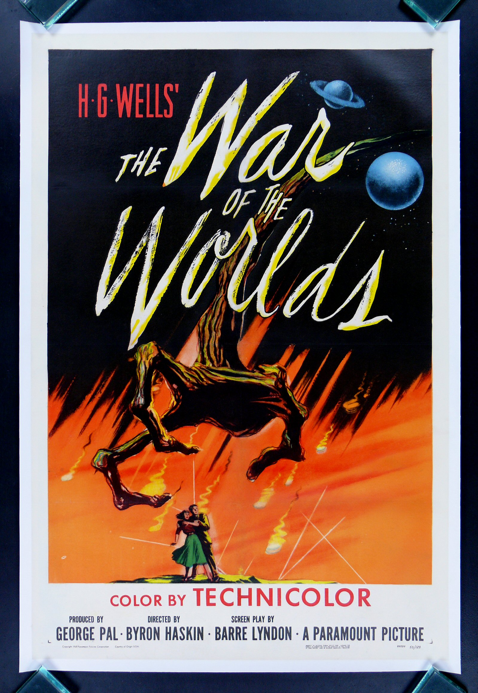 WAR OF THE WORLDS * CineMasterpieces ORIGINAL VINTAGE ...