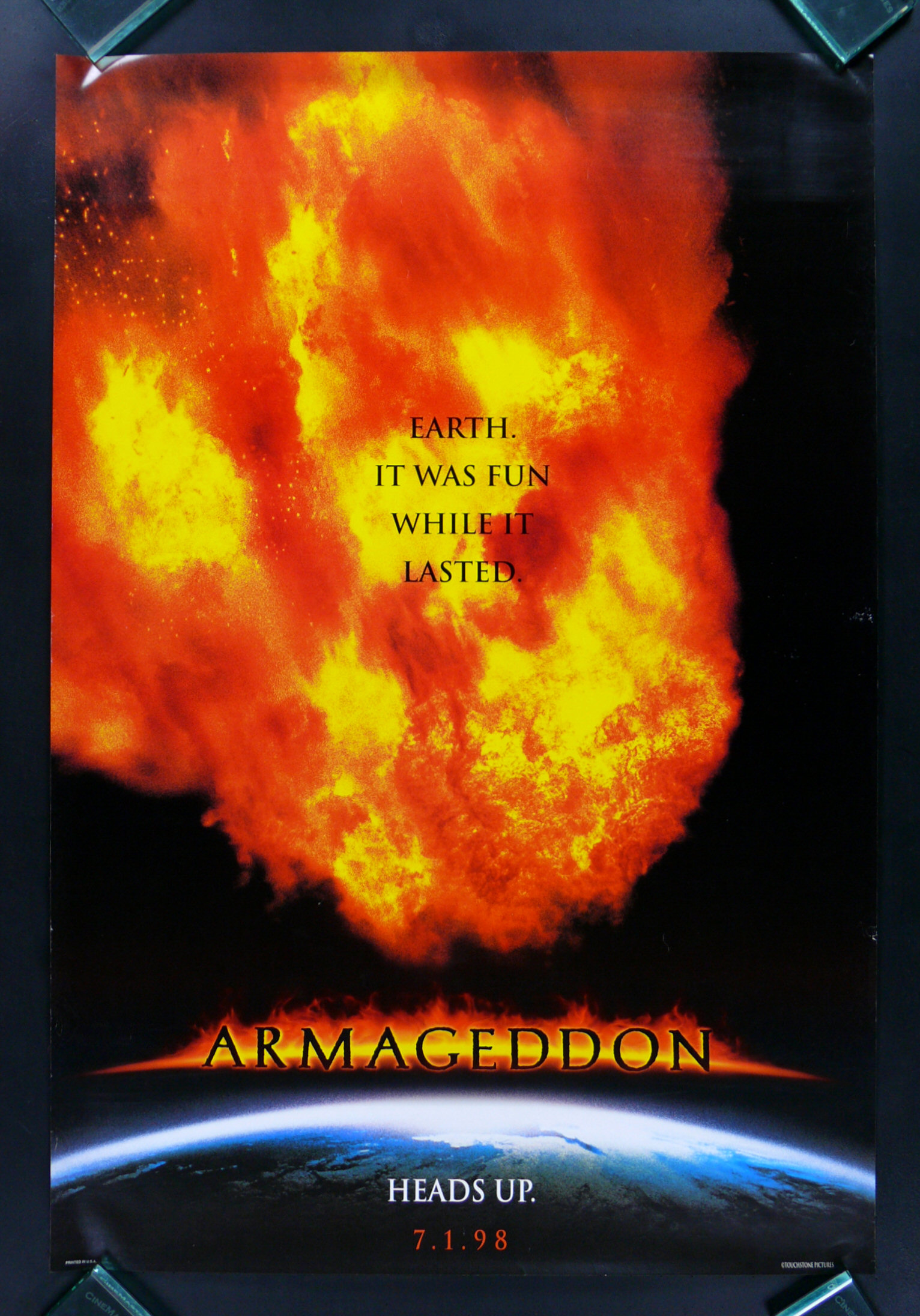 ARMAGEDDON * ORIGINAL ADV TEASER DS MOVIE POSTER 1998 | eBay