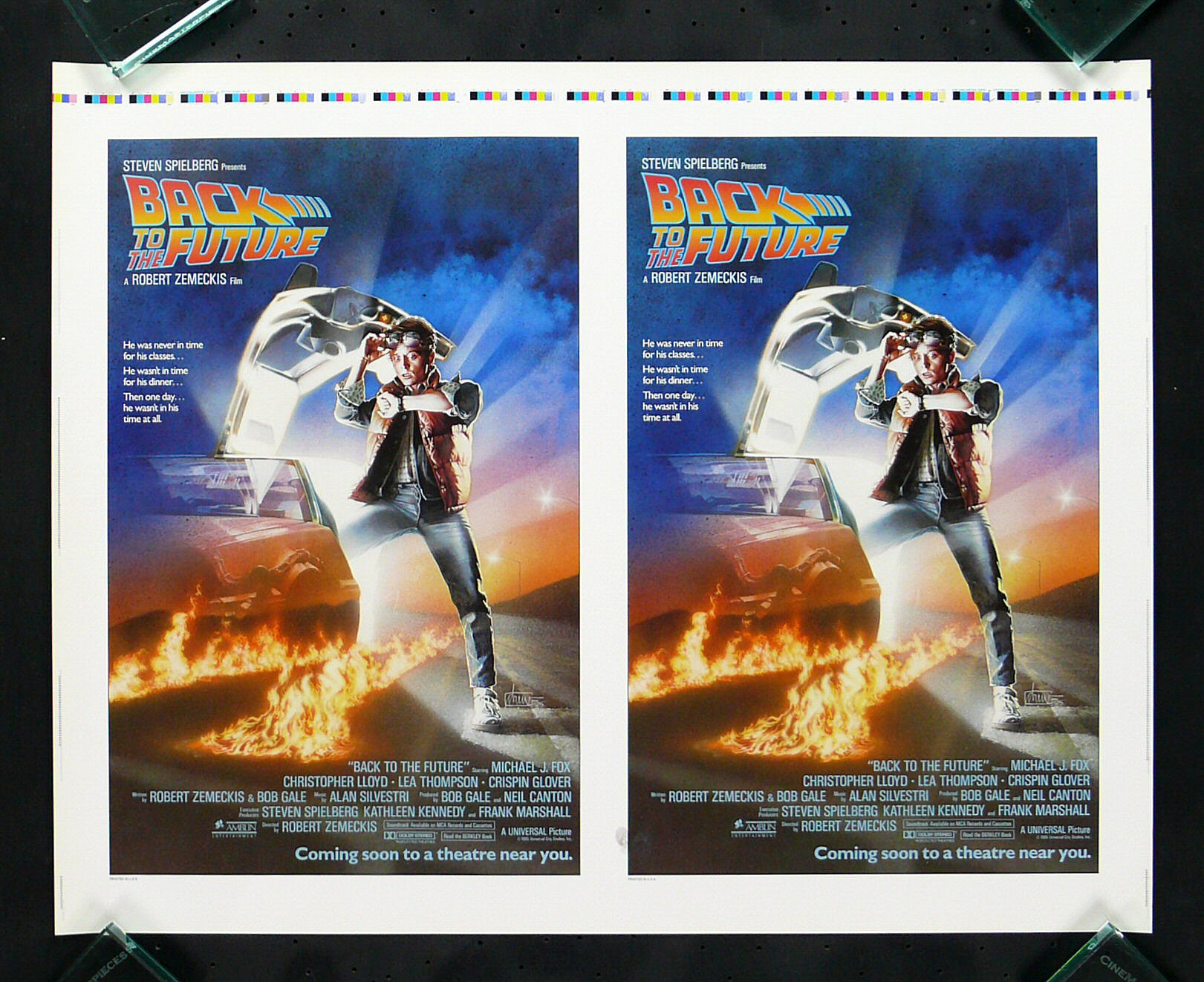 back to the future cinemasterpieces advance printers