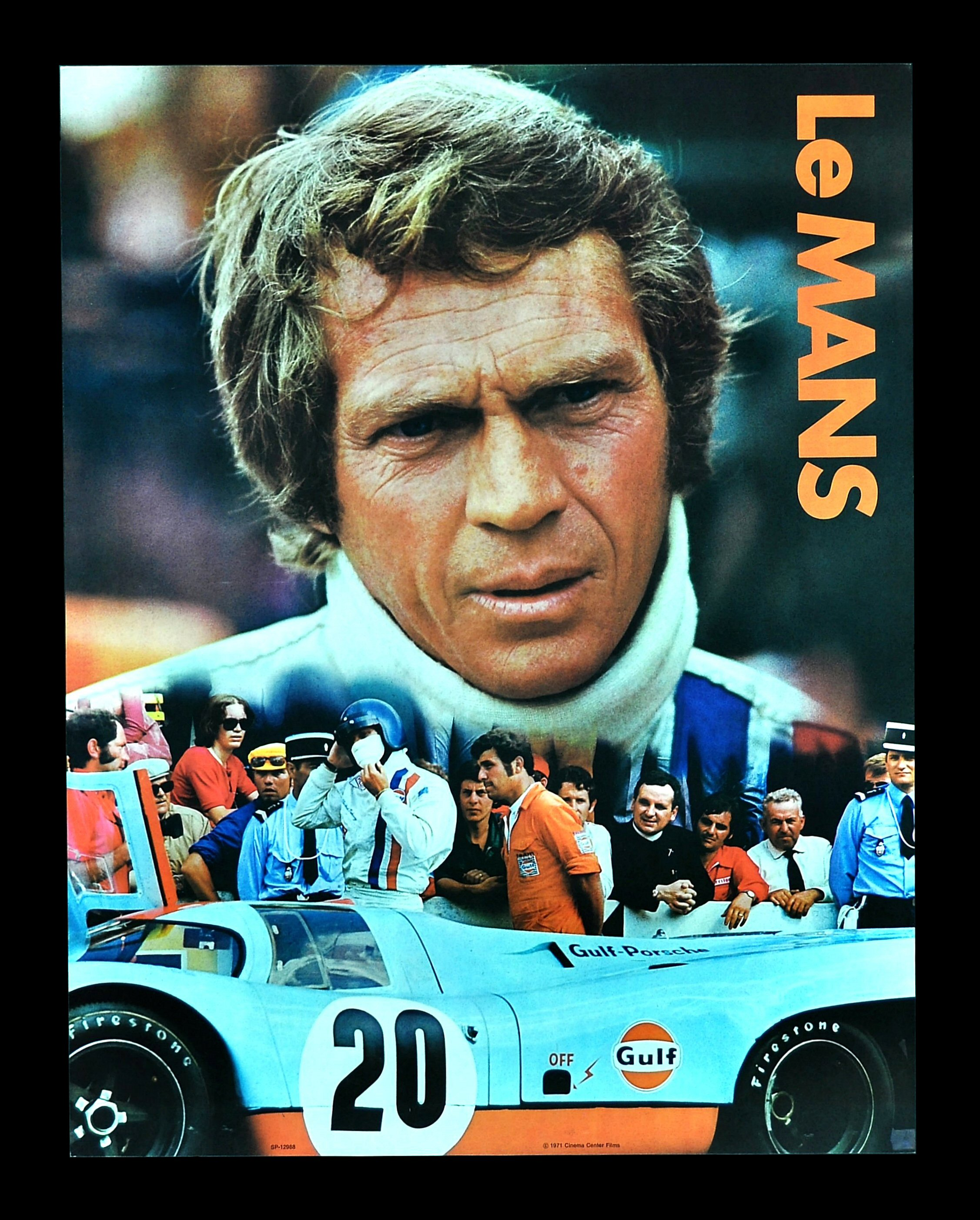 le mans lemans movie poster steve mcqueen auto racing. Black Bedroom Furniture Sets. Home Design Ideas