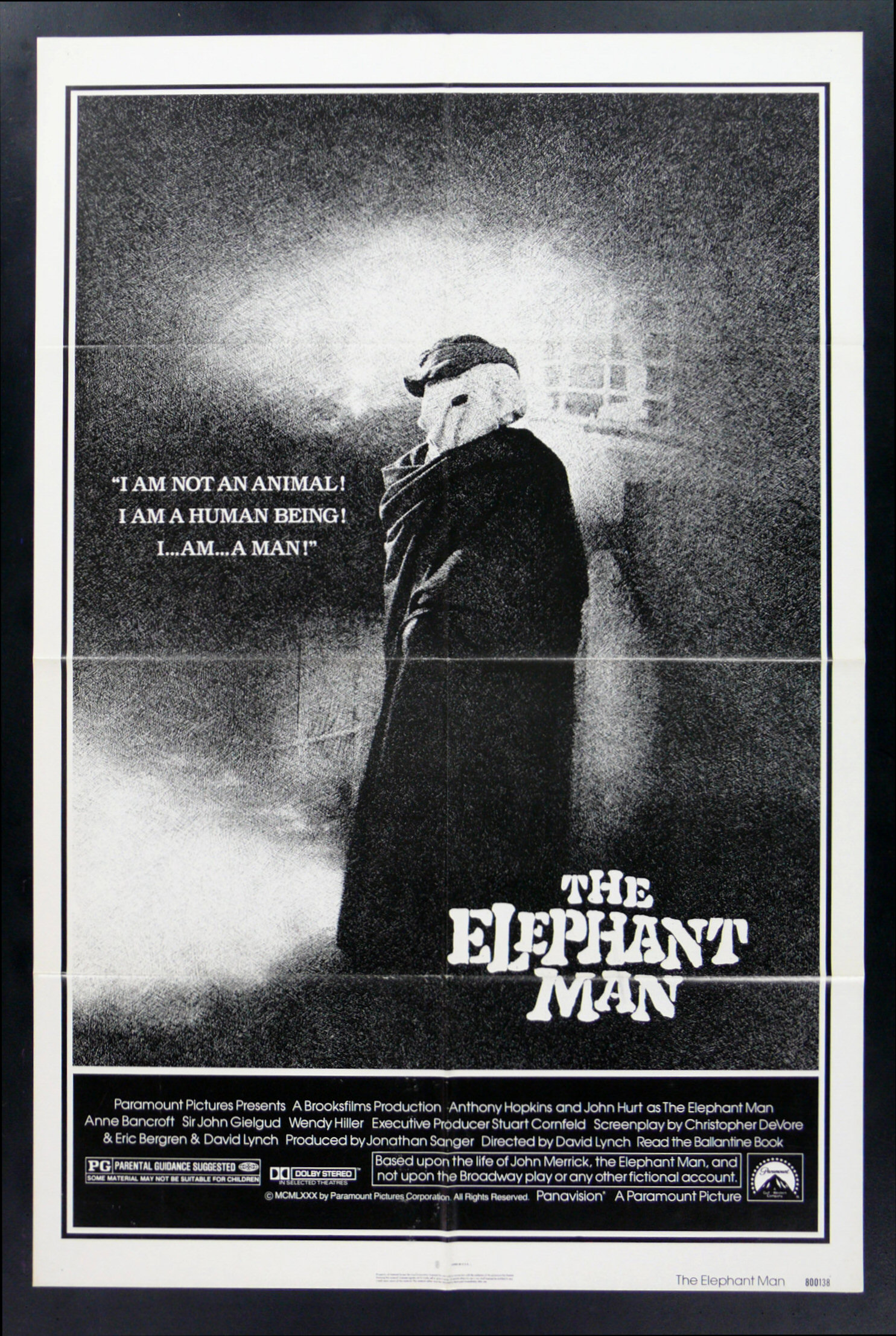 THE ELEPHANT MAN * 1SH ORIG MOVIE POSTER 1980 | eBay