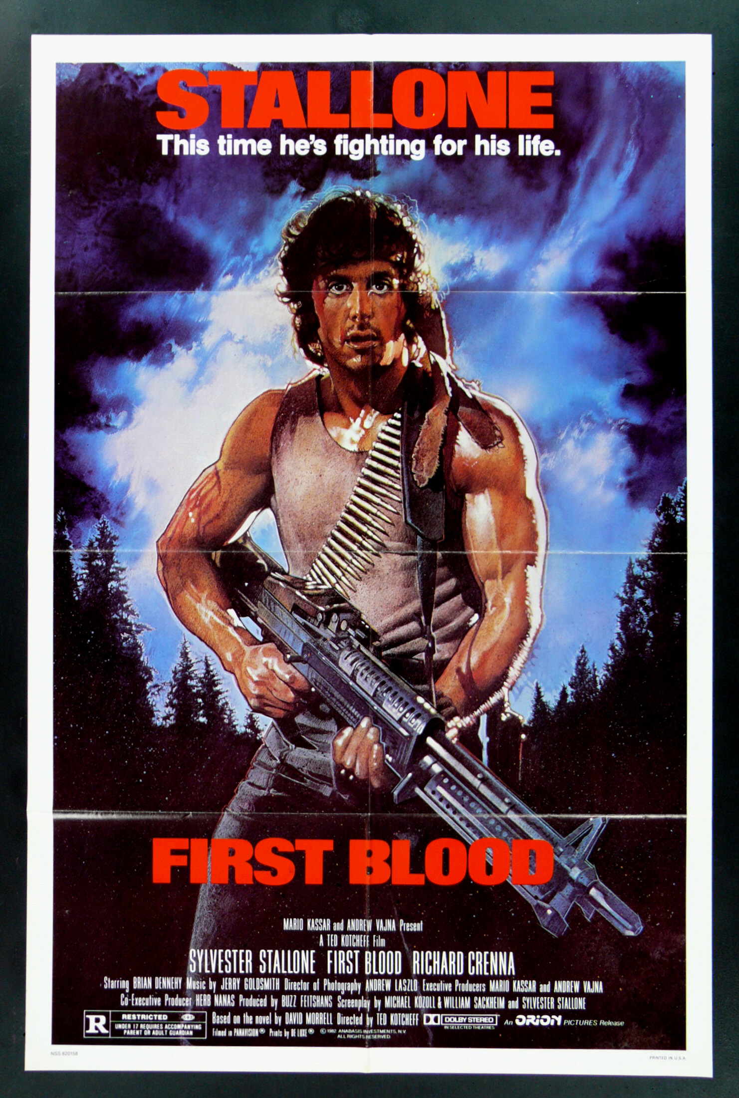 FIRST BLOOD * CINEMASTERPIECES 1SH ORIGINAL MOVIE POSTER ...