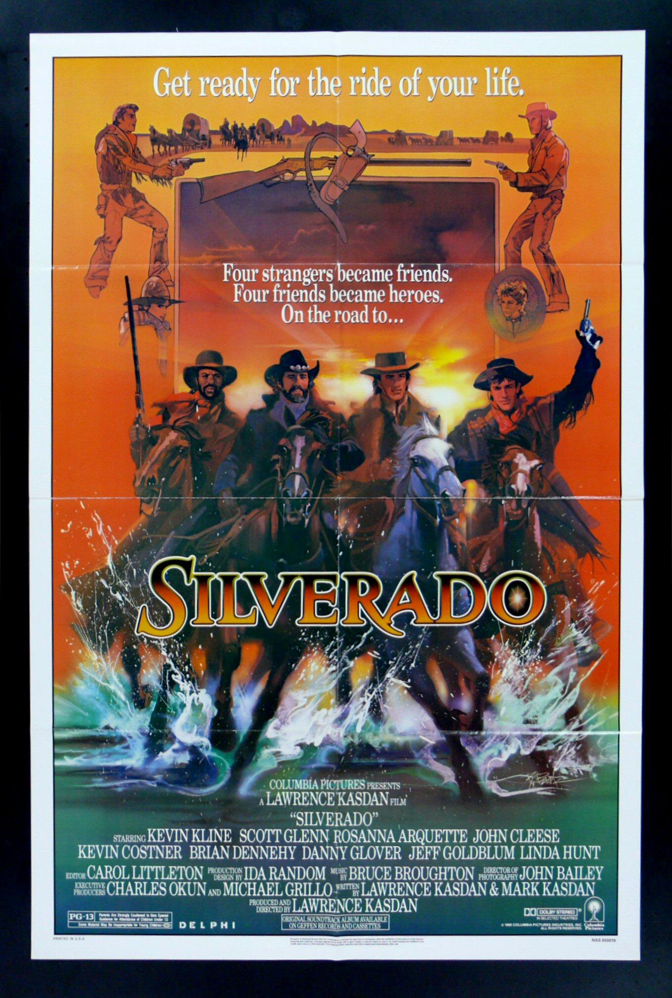 SILVERADO * 1SH ORIG WESTERN MOVIE POSTER 1985 | eBay