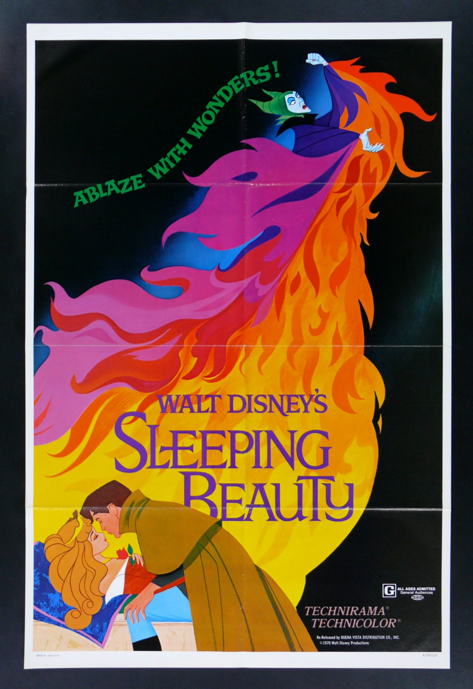SLEEPING BEAUTY * DISNEY 1SH ORIG MOVIE POSTER 1979 | eBay
