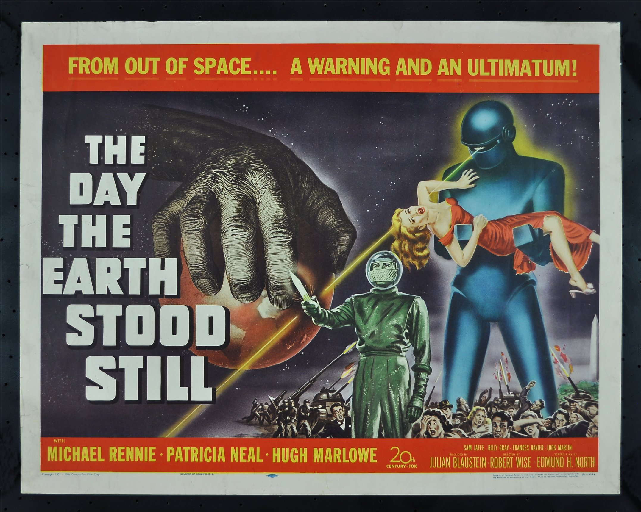 Day The Earth Stood Still The Movie Poster Film Poster One