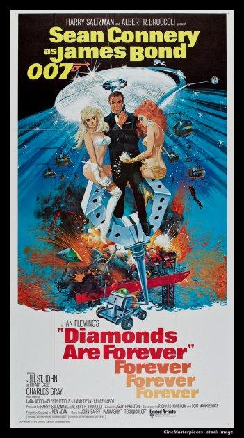 Diamonds Are Forever Cinemasterpieces 3sh Original Movie
