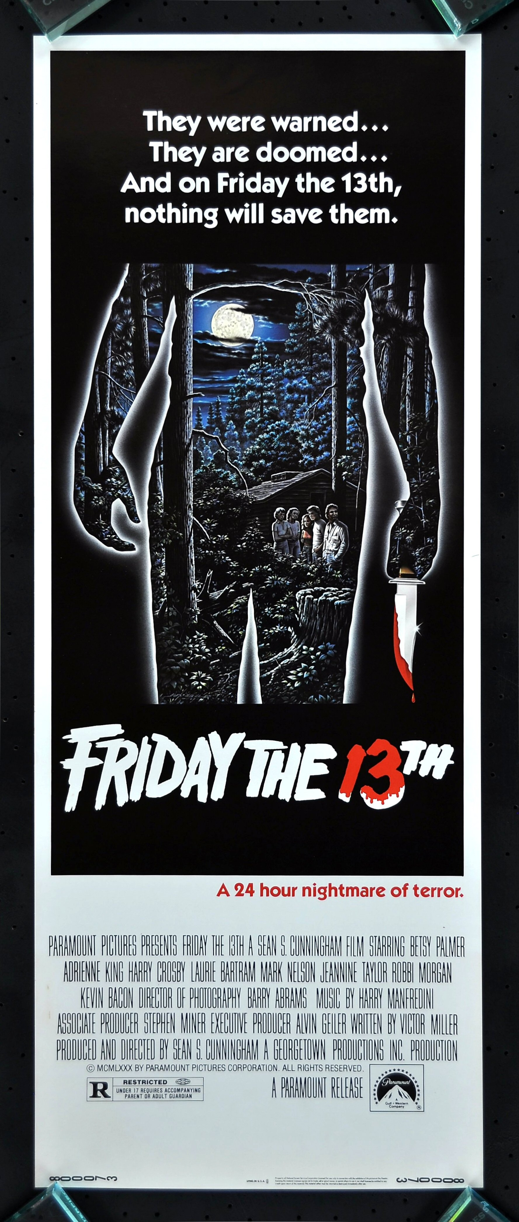 FRIDAY THE 13TH * CINEMASTERPIECES ORIGINAL MOVIE POSTER ...