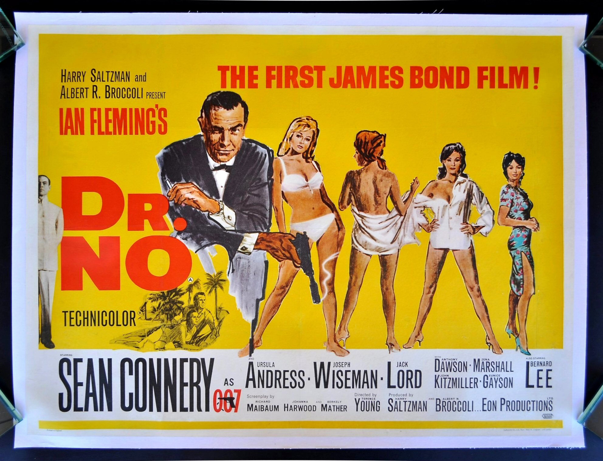 DR. NO * CineMasterpieces ORIGINAL 1962 UK MOVIE POSTER ...