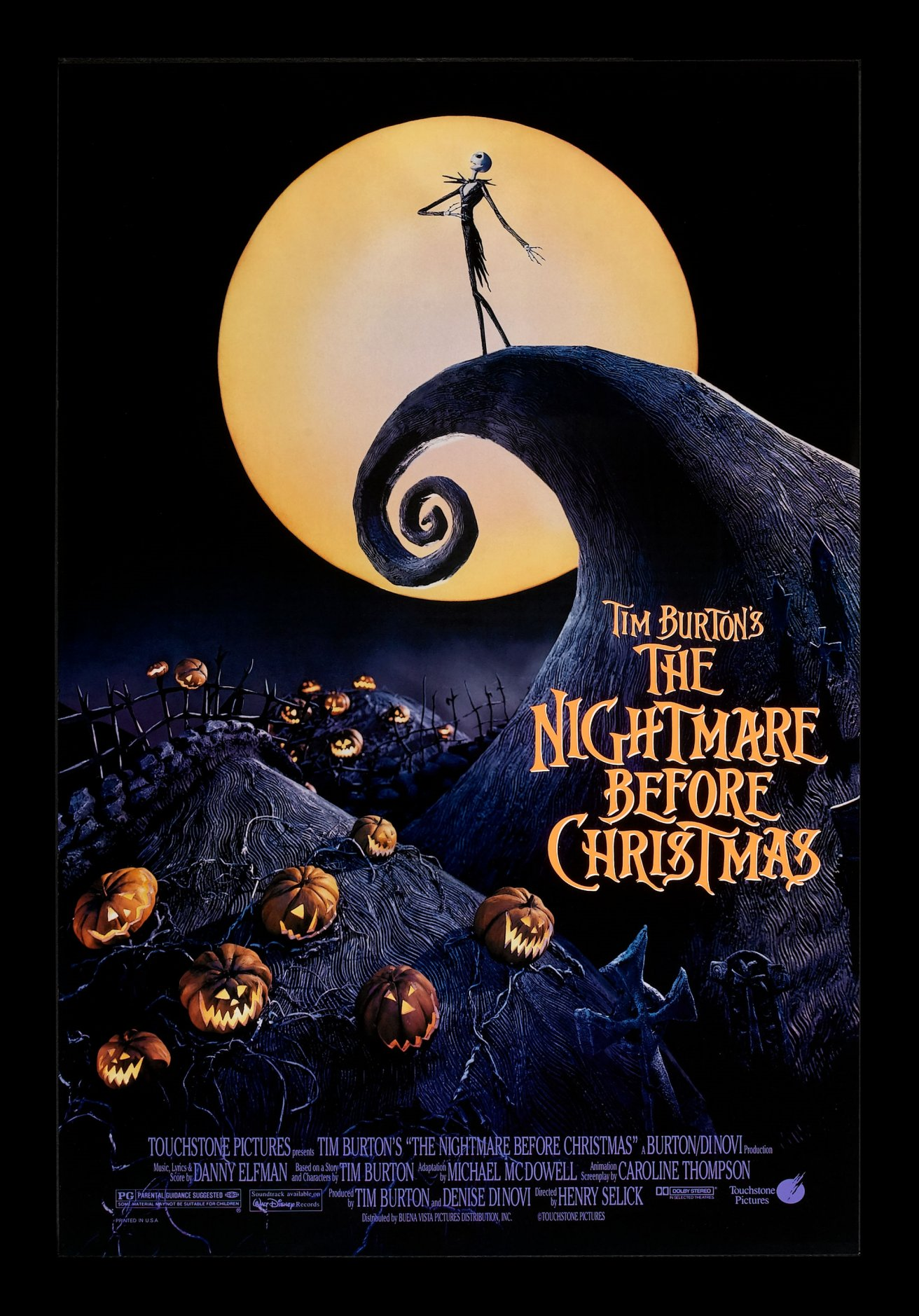 NIGHTMARE BEFORE CHRISTMAS * CineMasterpieces 1SH DS ...