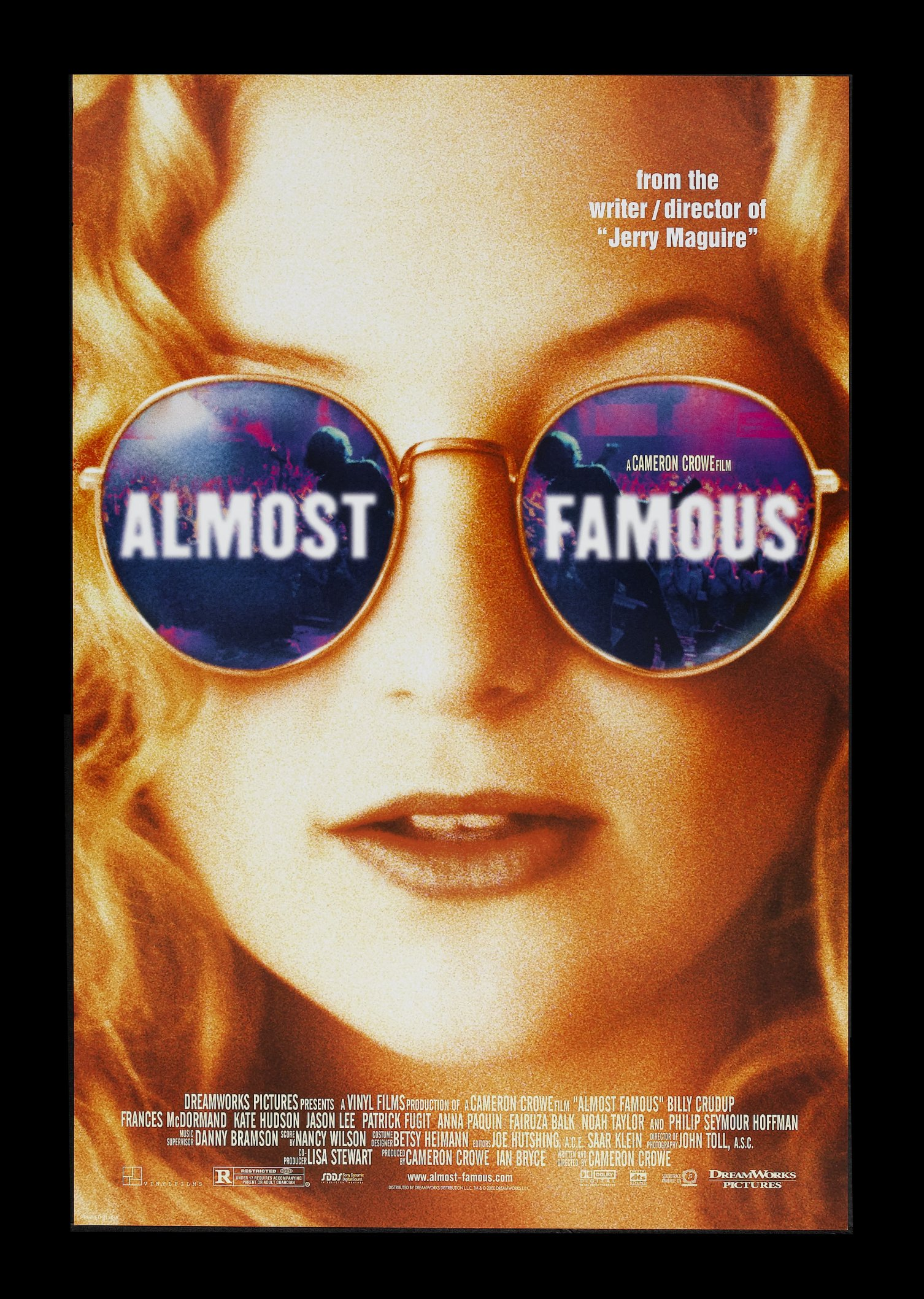 ALMOST FAMOUS * 1SH ORIG MOVIE POSTER DS NM C9 2000 | eBay