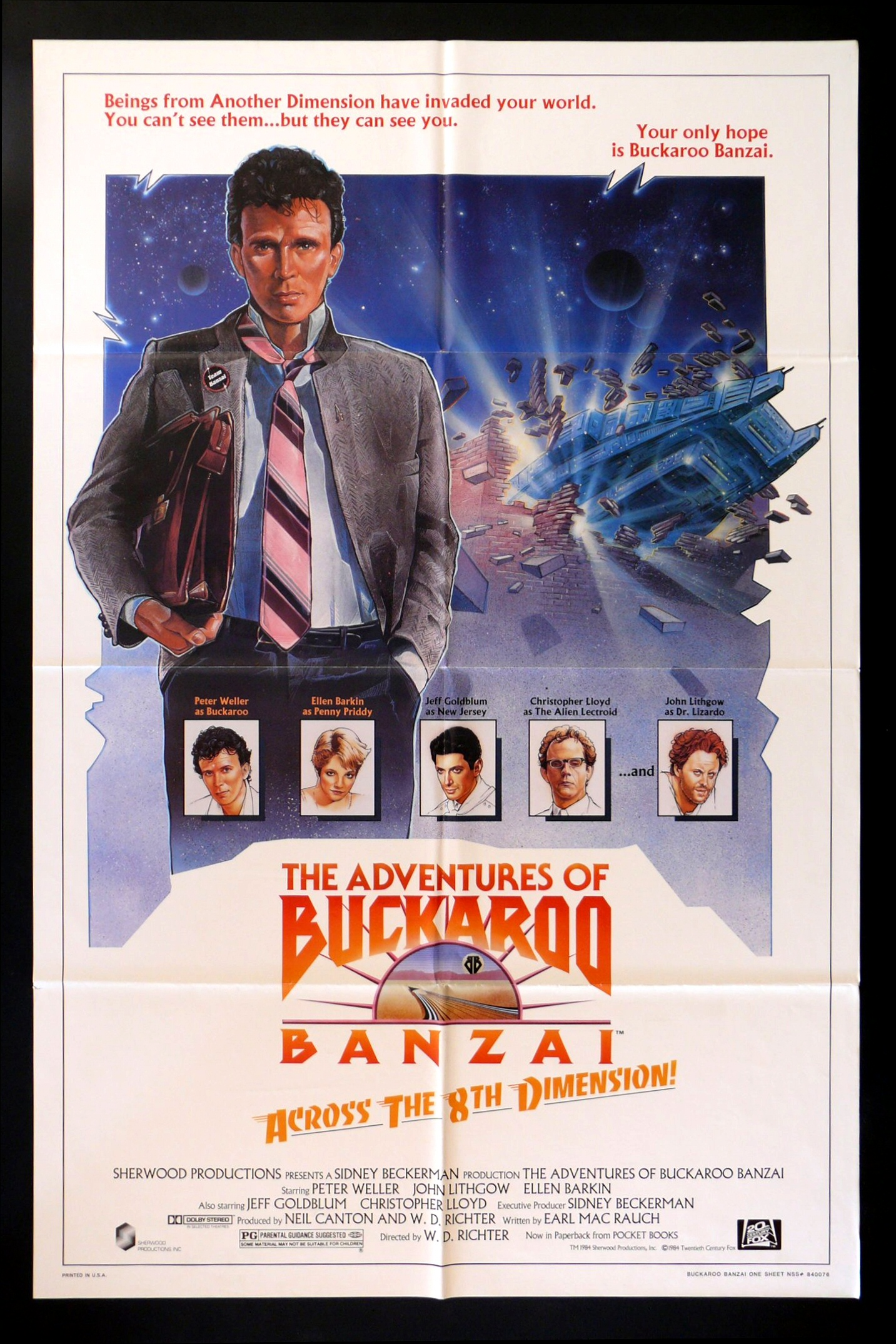 ADVENTURES OF BUCKAROO BANZAI CineMasterpieces ORIGINAL ...