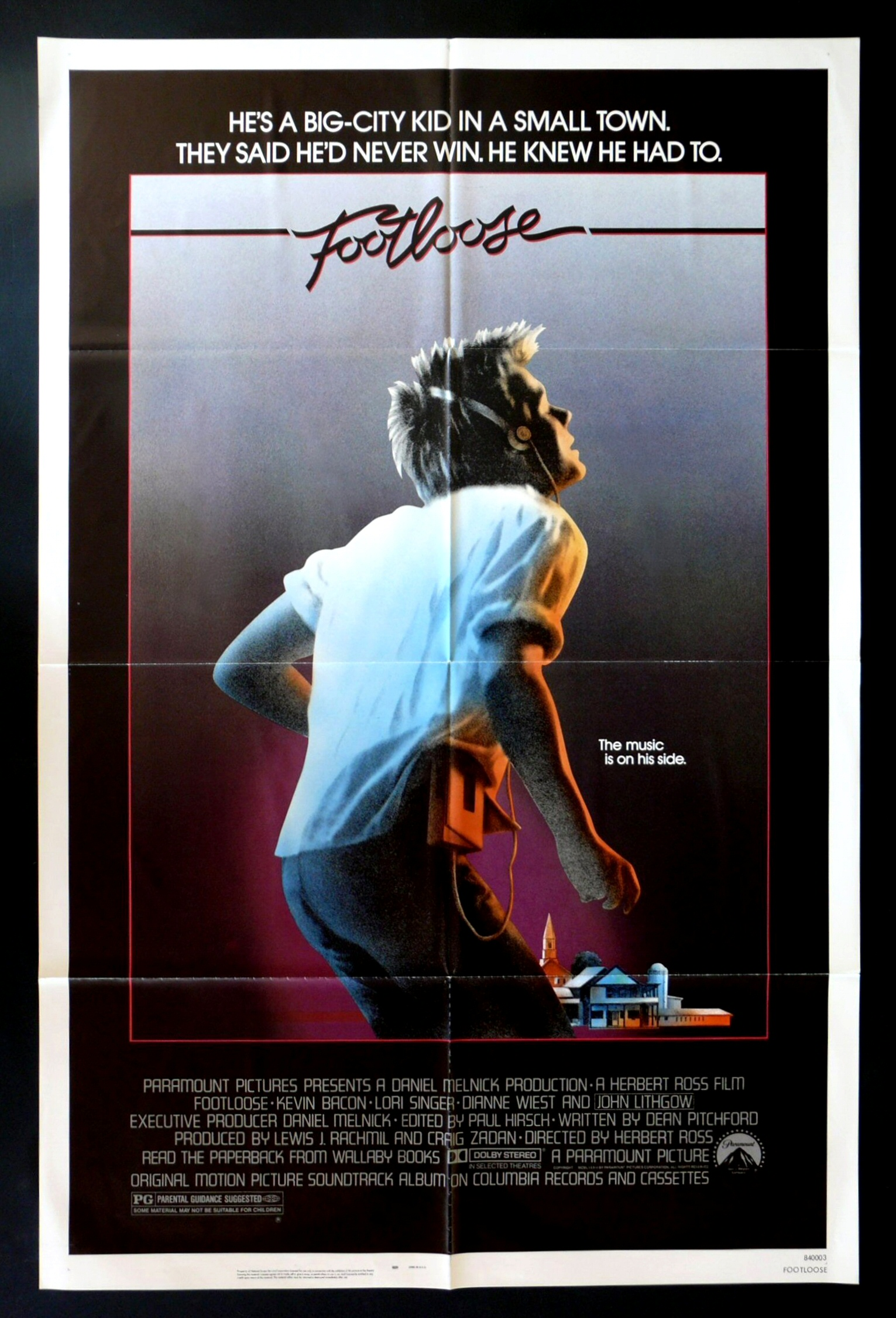 Details about FOOTLOOSE   1SH ORIG MOVIE POSTER 1984 DANCE DANCINGFootloose Movie Poster 1984