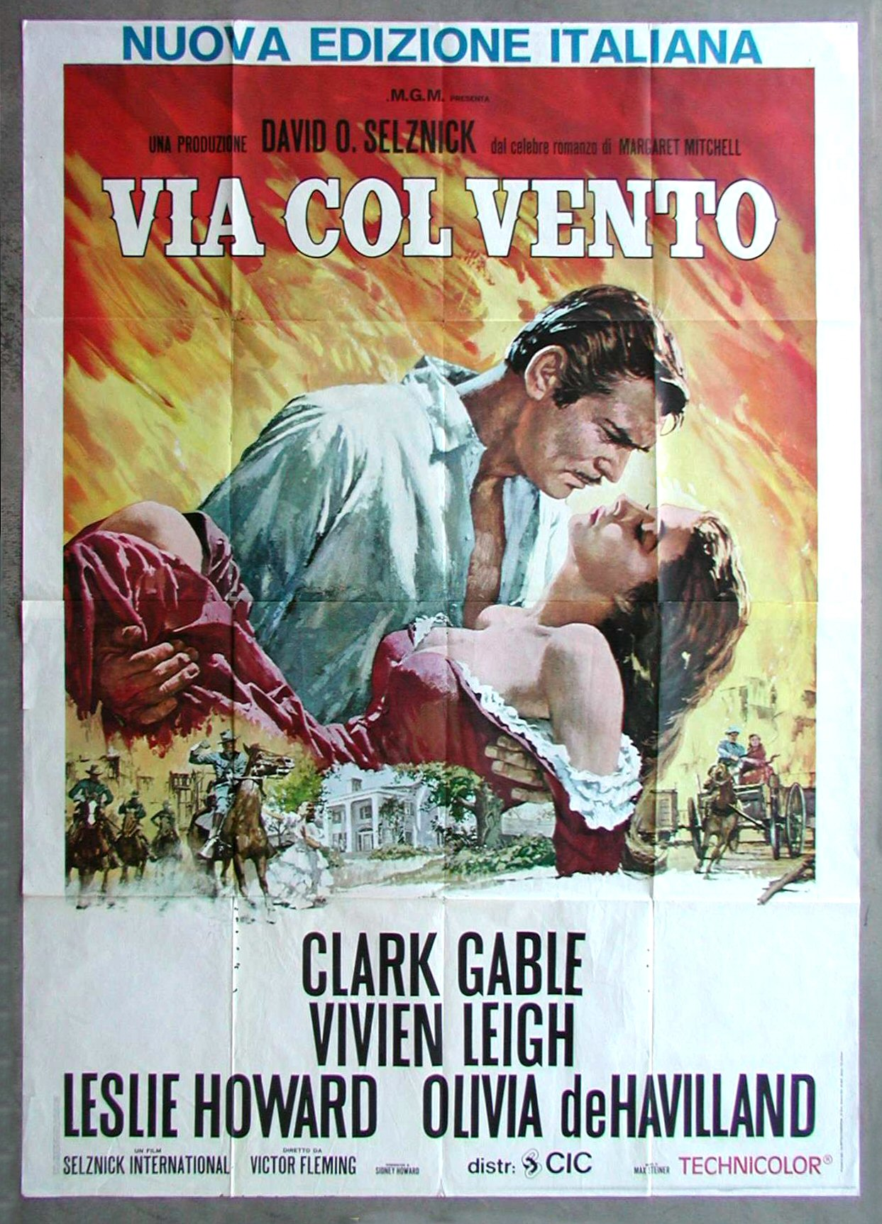 GONE WITH THE WIND * CineMasterpieces ITALIAN ITALY ...
