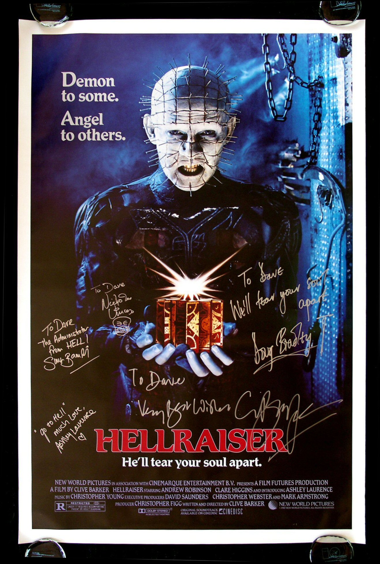 Original hellraiser movie poster