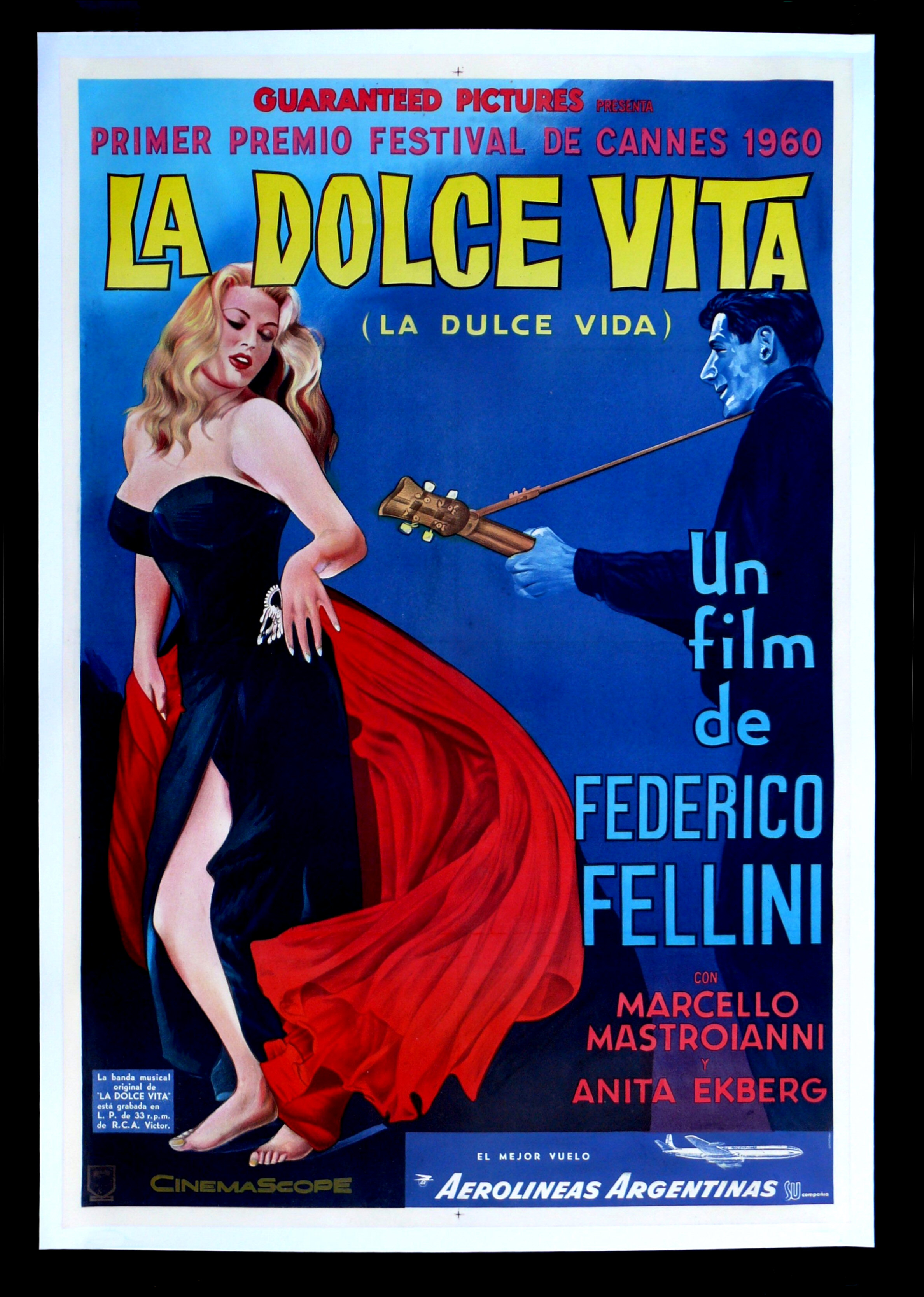LA DOLCE VITA * ARGENTINA 1SH ORIG MOVIE POSTER LINEN | eBay