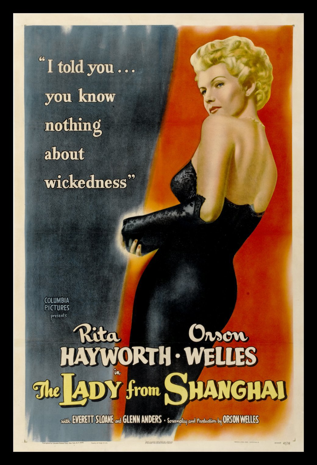 LADY FROM SHANGHAI, THE movie