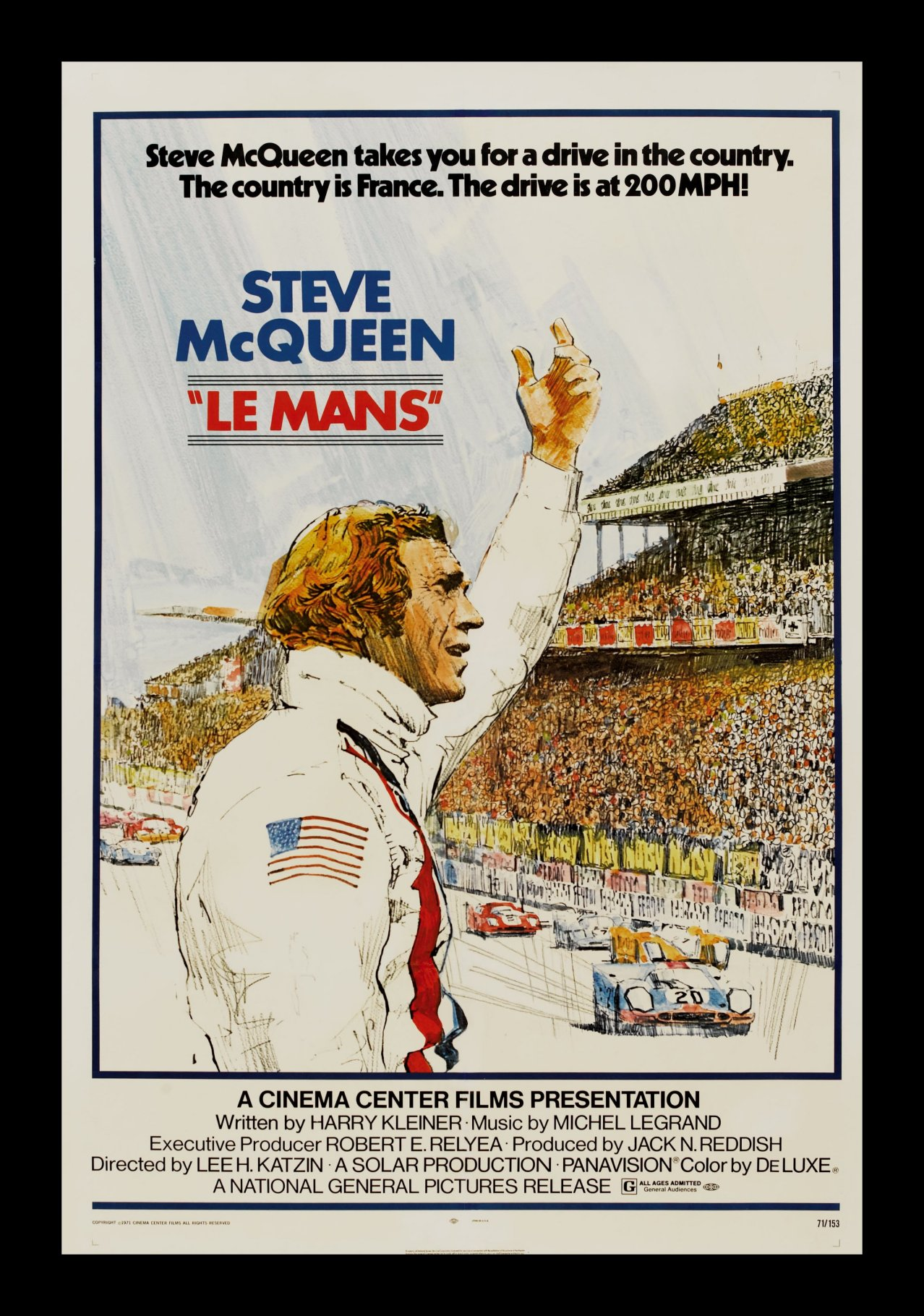 le mans 1sh orig movie poster steve mcqueen racing ebay. Black Bedroom Furniture Sets. Home Design Ideas