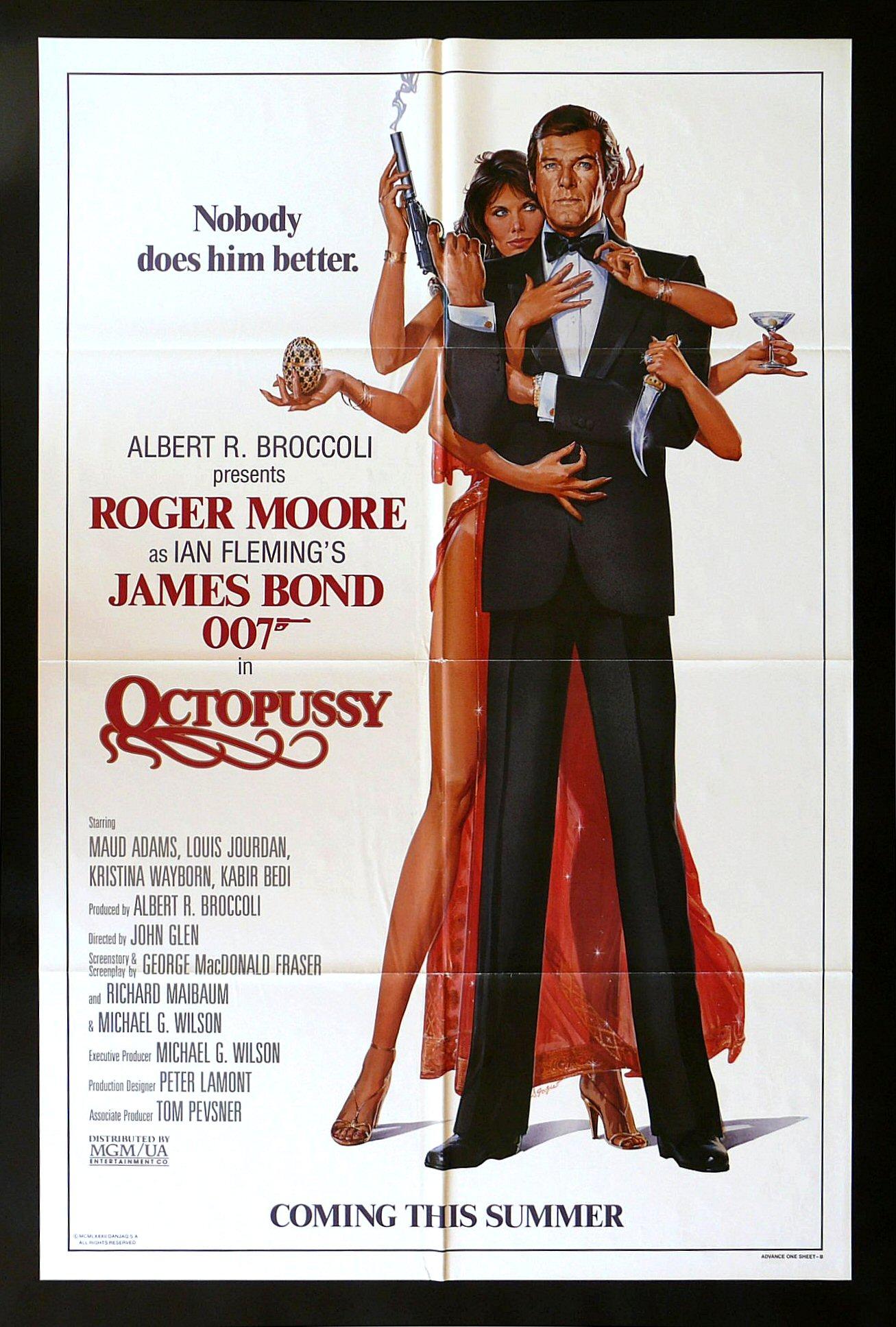 octopussy cinemasterpieces 1sh original movie poster