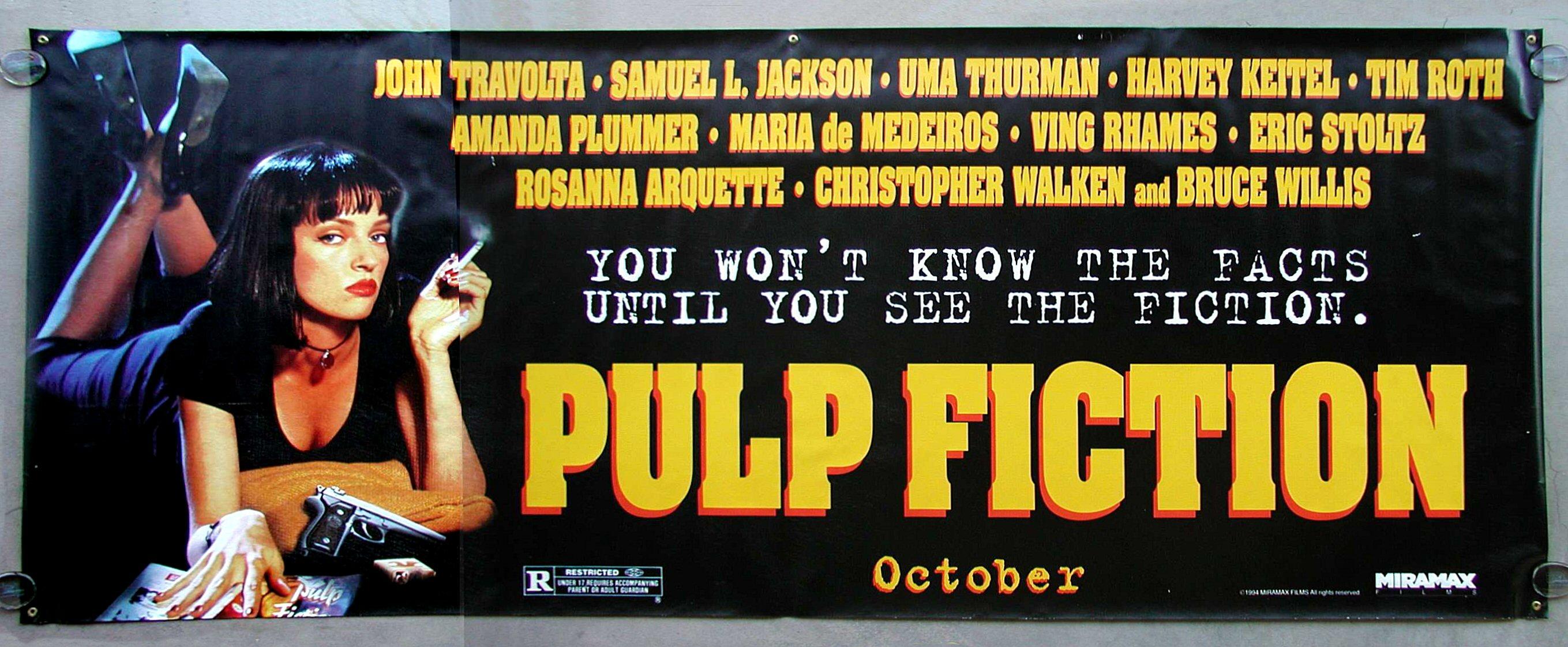 Resultado de imagem para pulp fiction poster